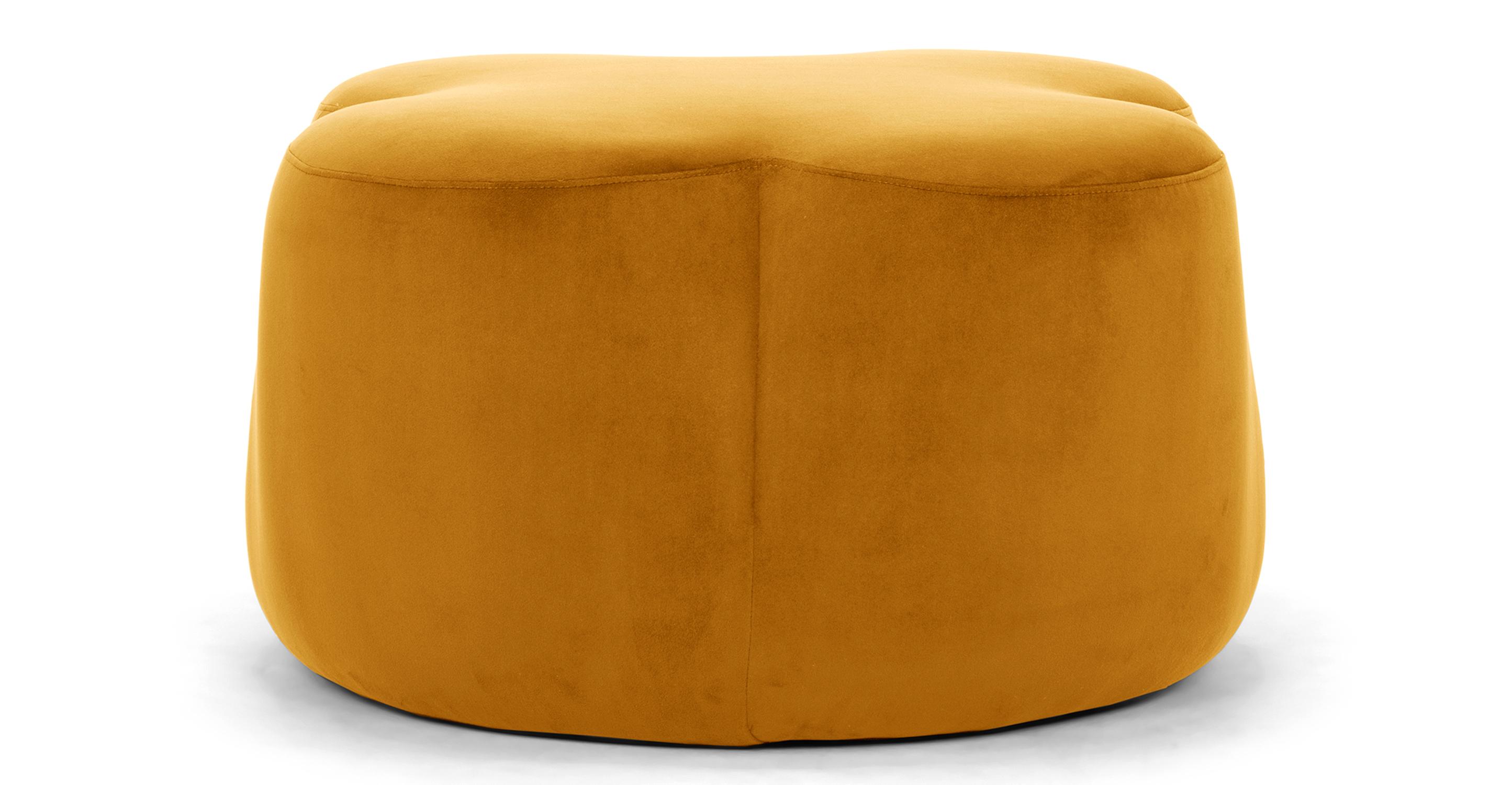 "Buttercup 30"" Fabric Ottoman, Dazzle Velvet"