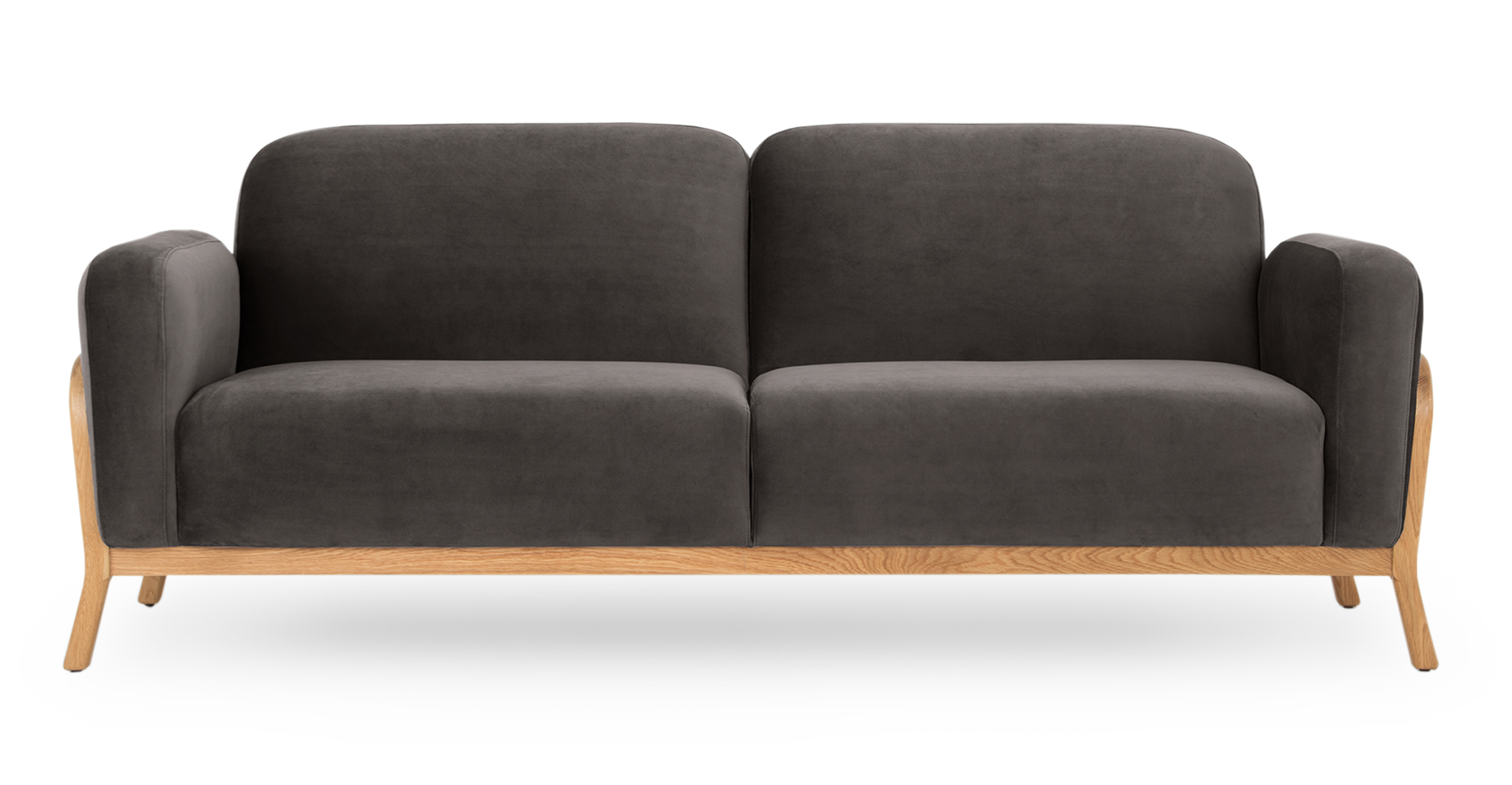 """Cabbie 85"""" Fabric Sofa, Urbane Velvet"""