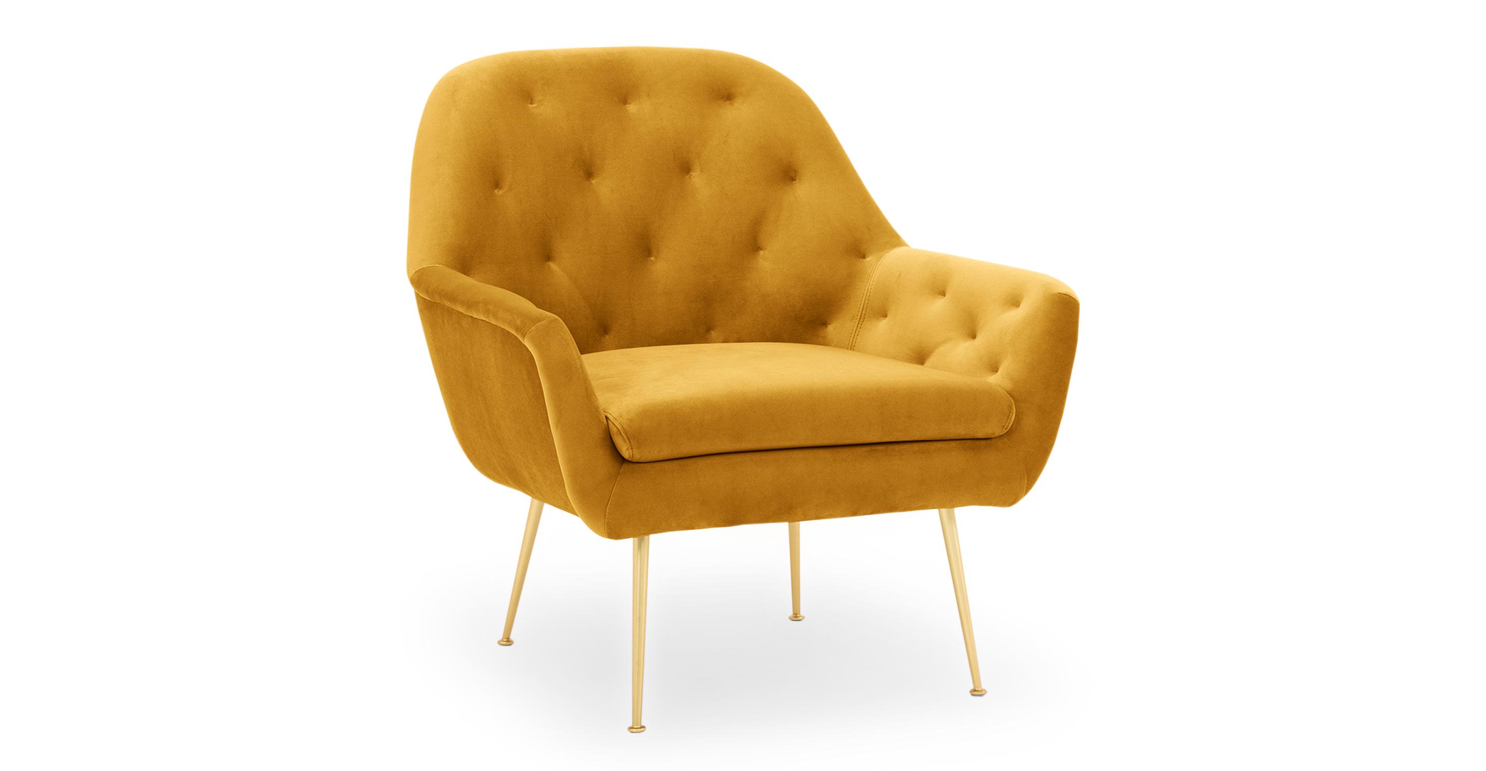"Carmen 29"" Fabric Chair, Dazzle Velvet"