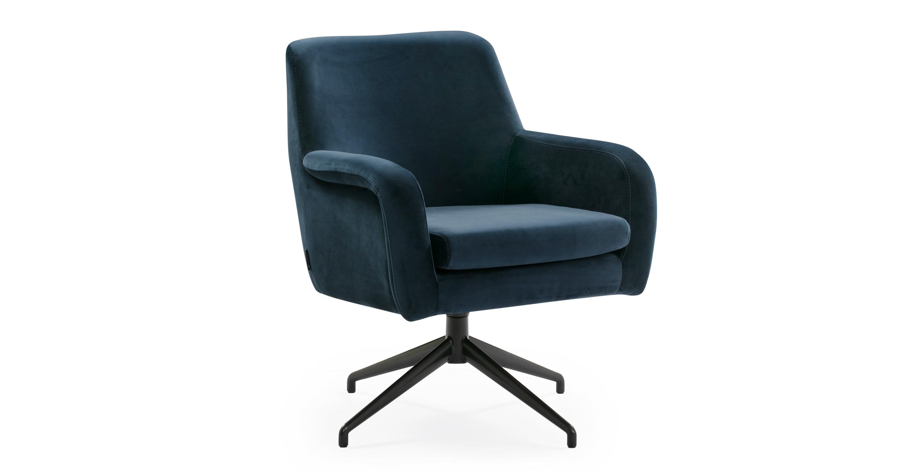 "Cameron 25"" Fabric Chair, Royal Blue Velvet"