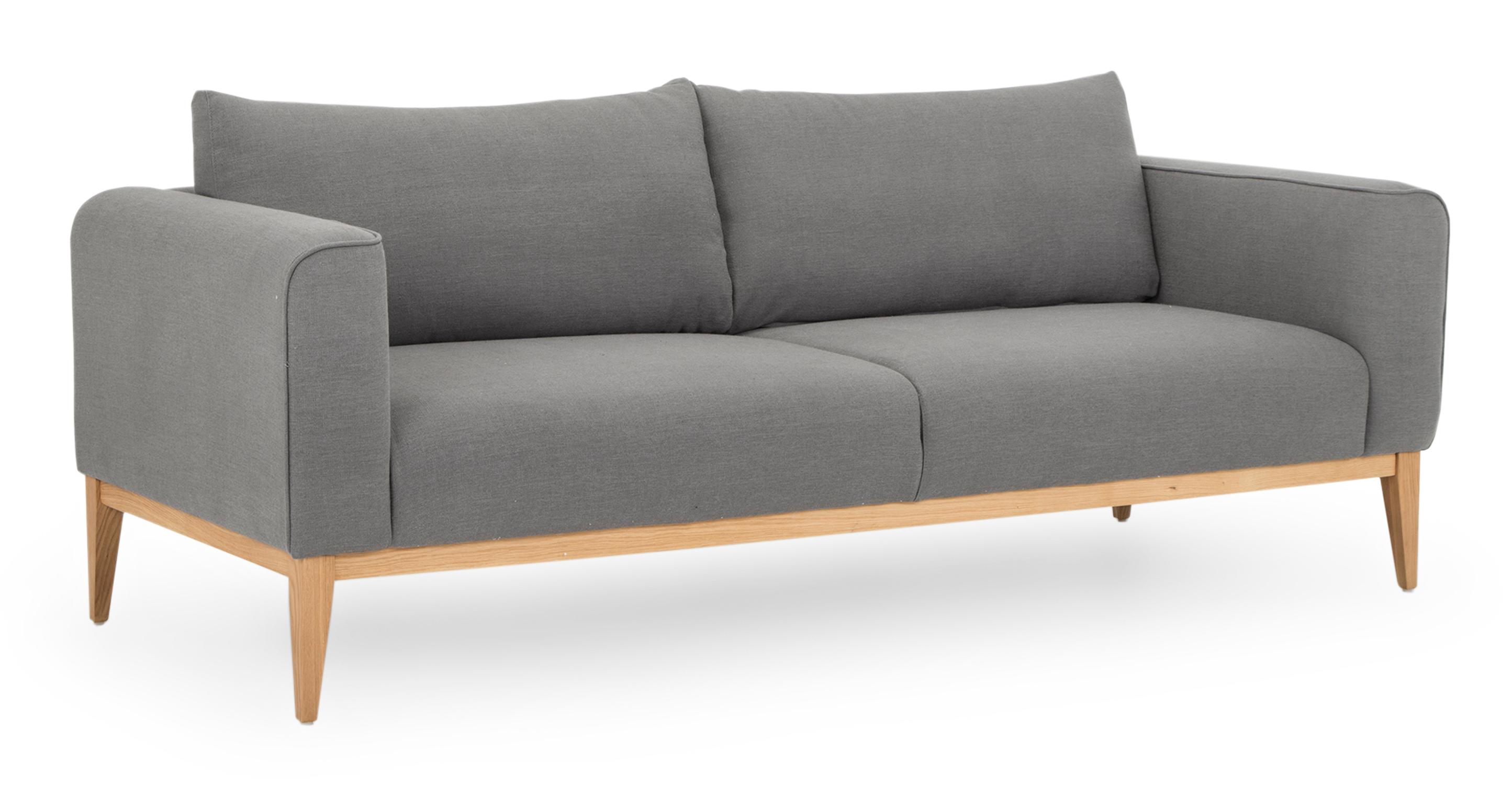 """Colin 84"""" Fabric Sofa, Foggy"""