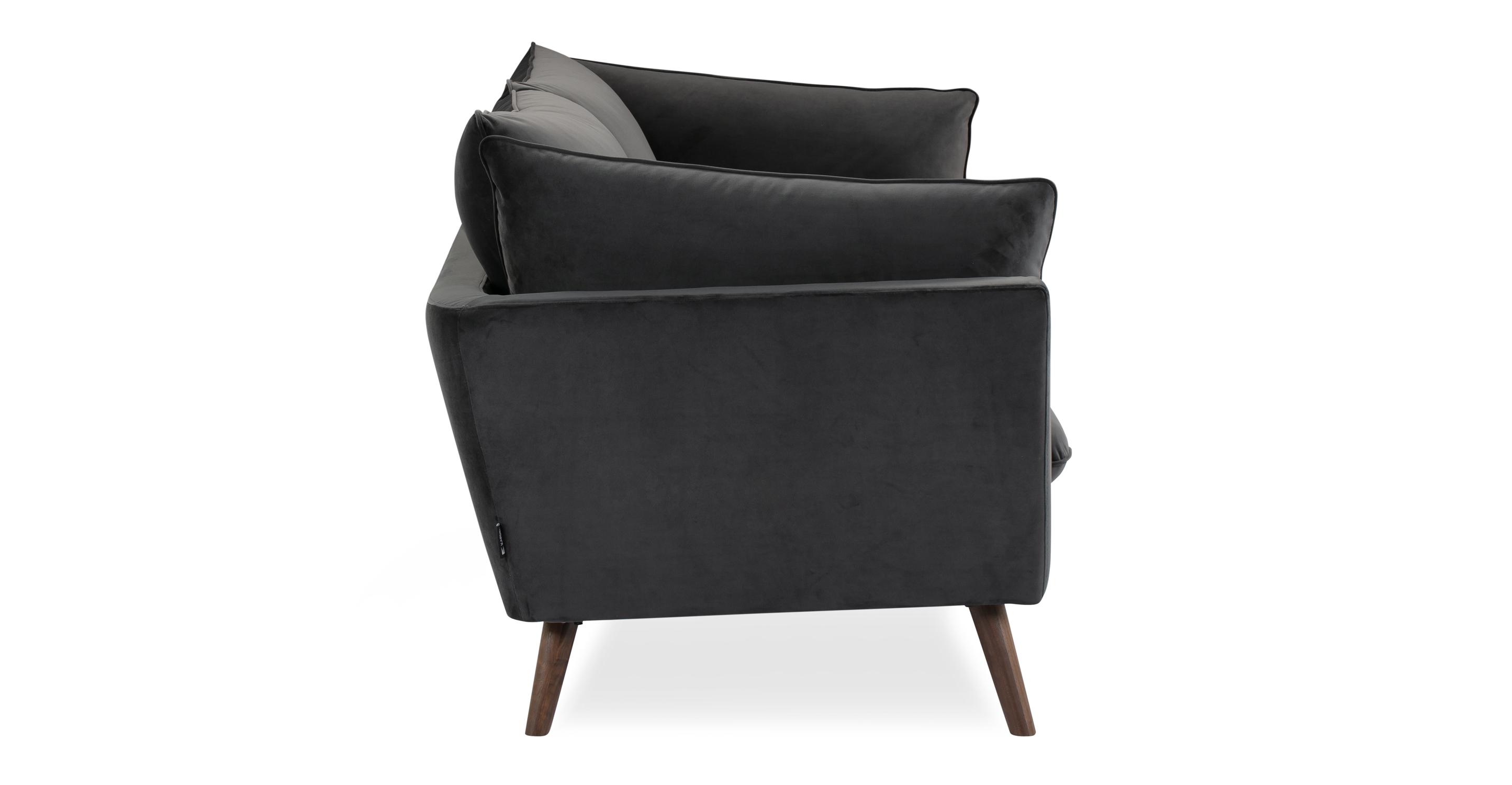 """Michelle 86"""" Fabric Sofa, Catlerock Velvet"""