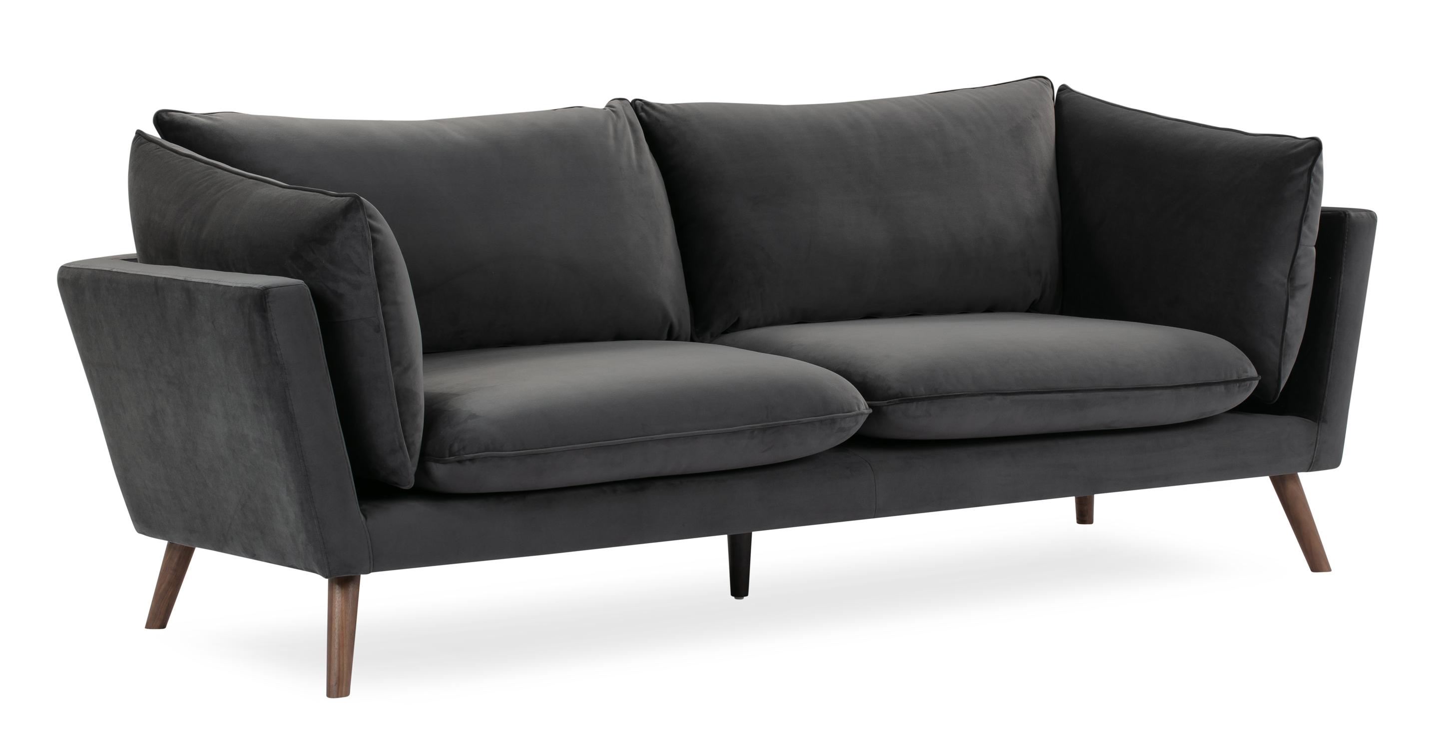 """Michelle 87"""" Fabric Sofa, Castlerock Velvet"""