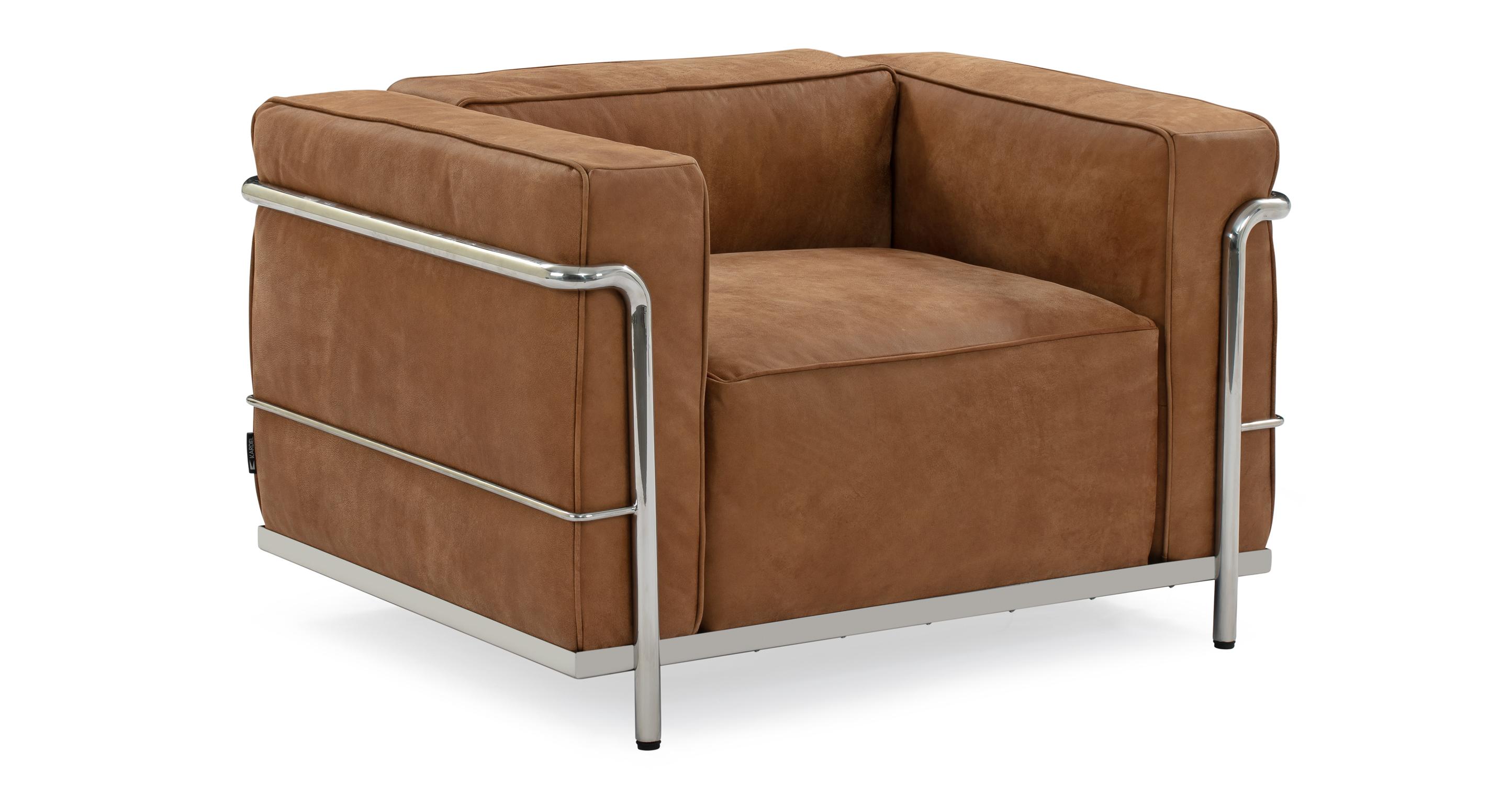 "Roche 39"" Leather Chair, Cognac"