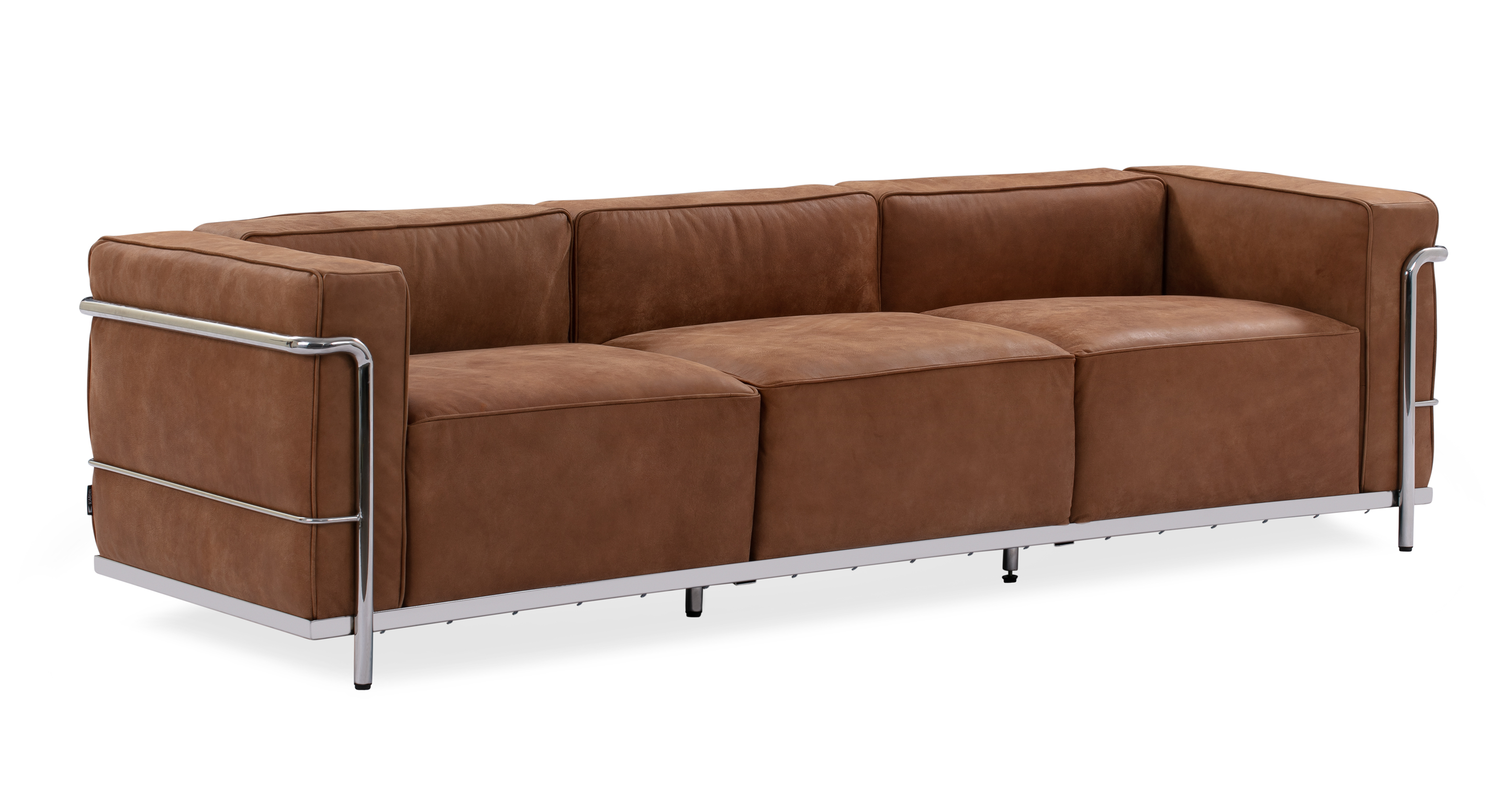 "Roche 89"" Leather Sofa, Cognac"