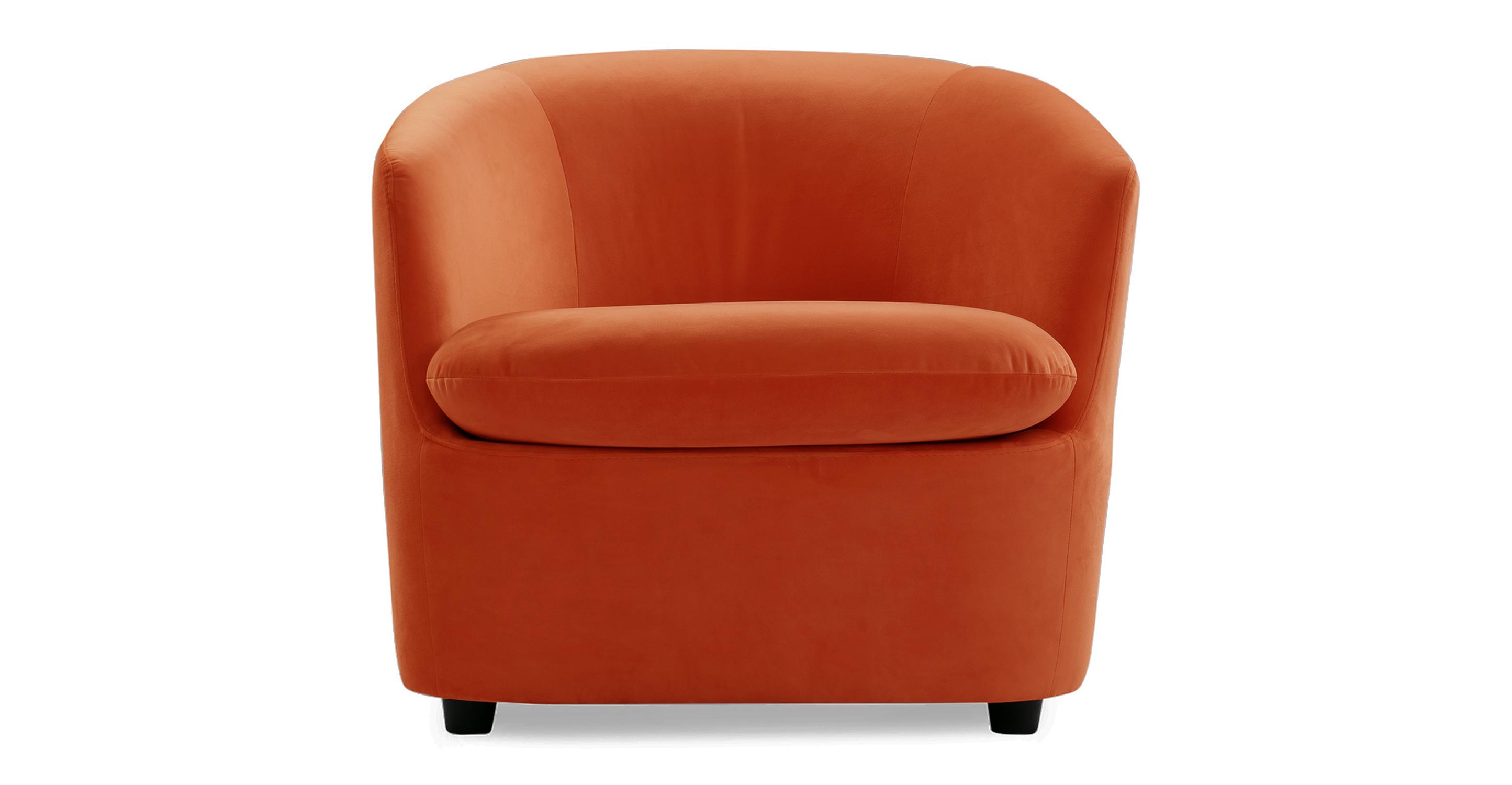 "Vogue 31"" Fabric Chair, Spice Velvet"