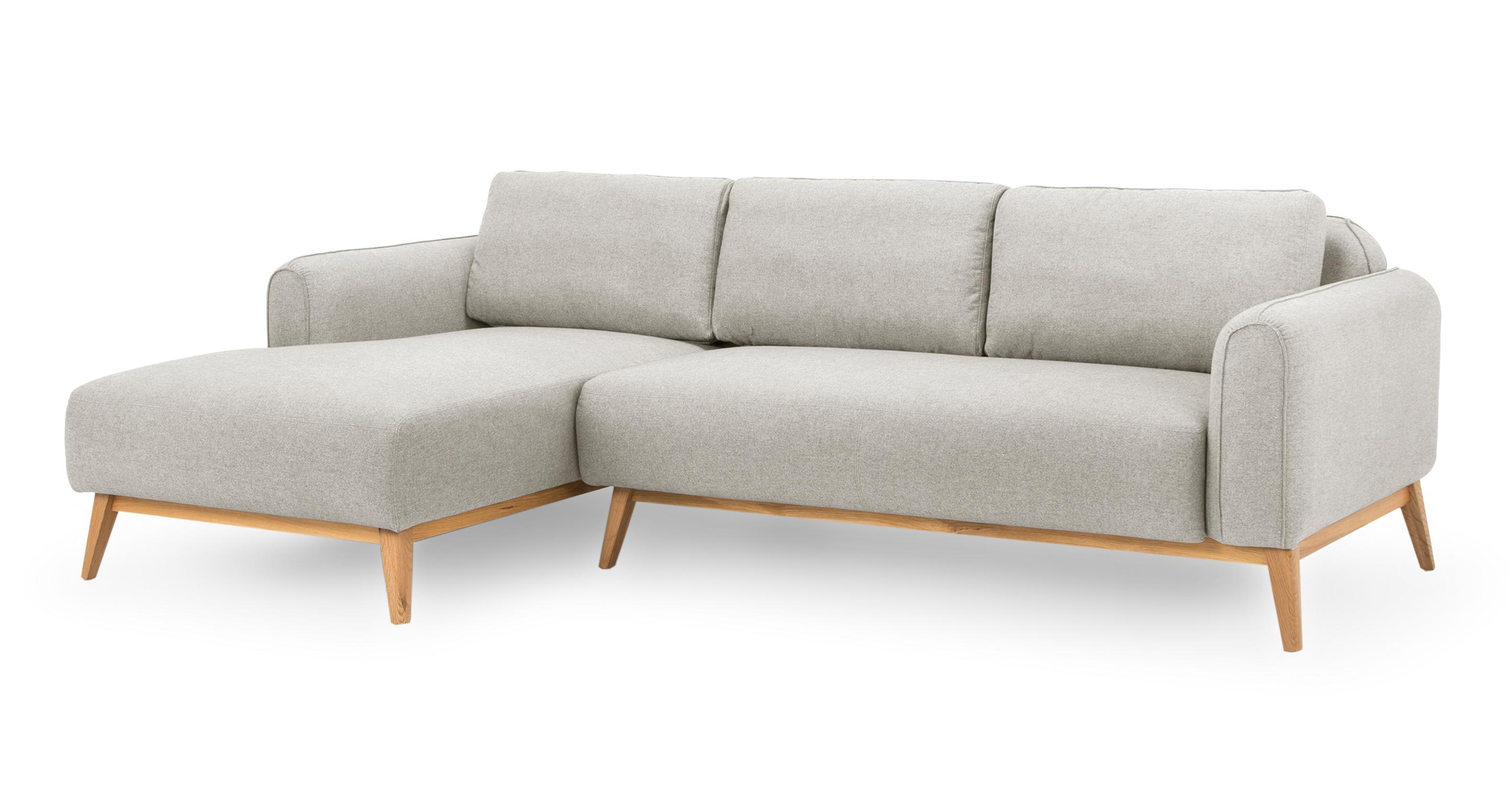 "Metro 100"" Fabric Sofa Sectional Left, Stone"