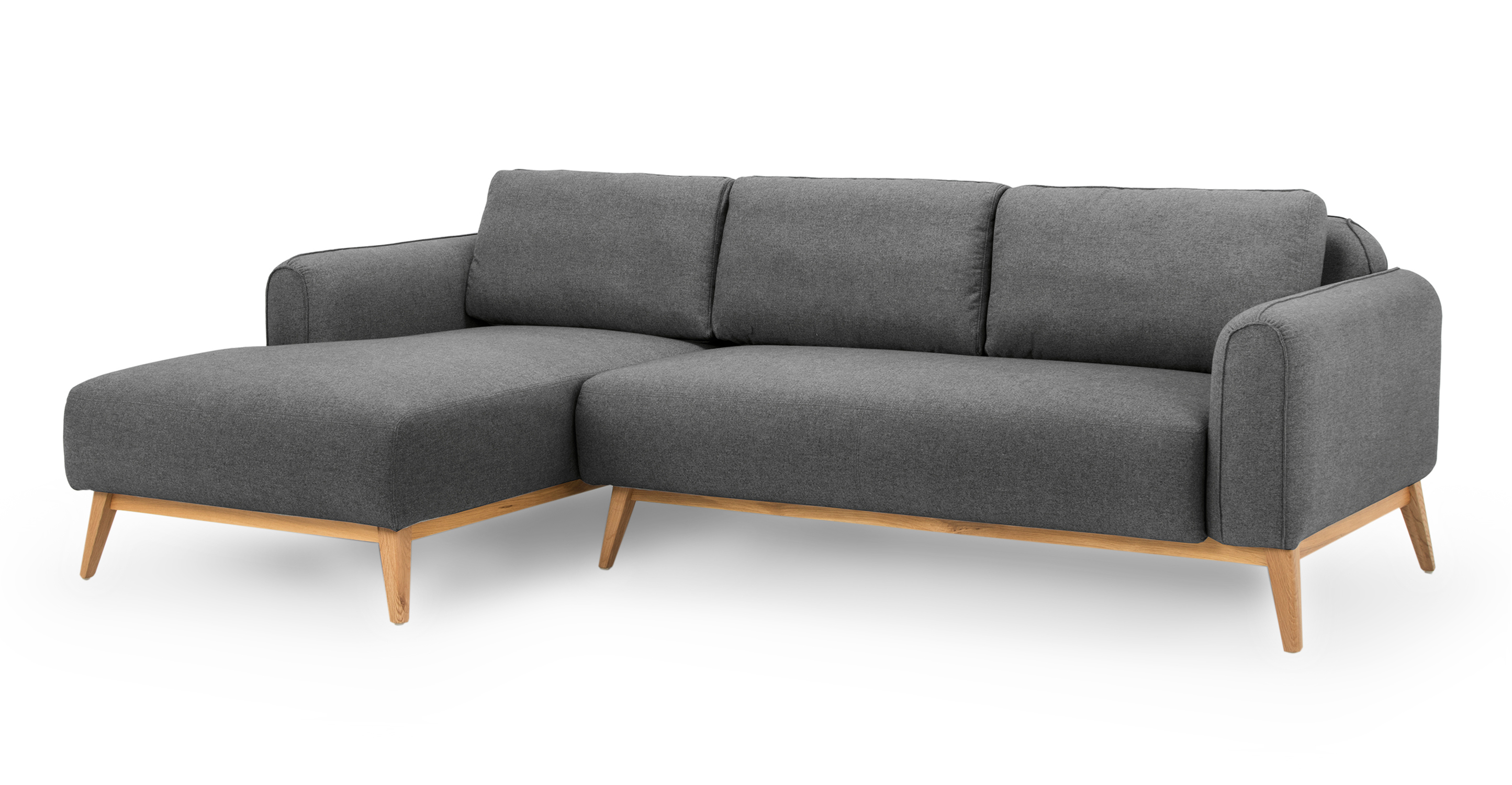 "Metro 100"" Fabric Sofa Sectional Left, Timberwolf"