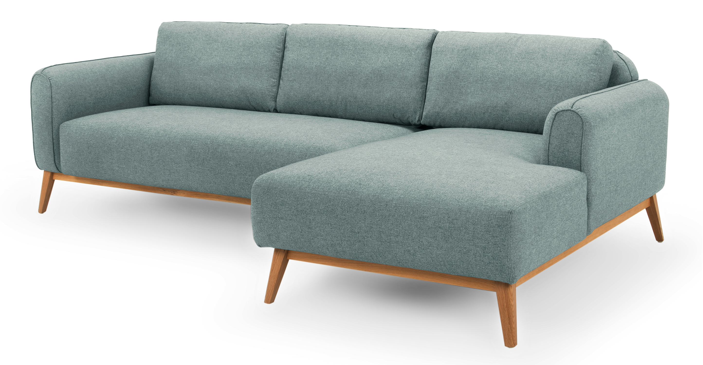 "Metro 100"" Fabric Sofa Sectional Right, Pigeon"