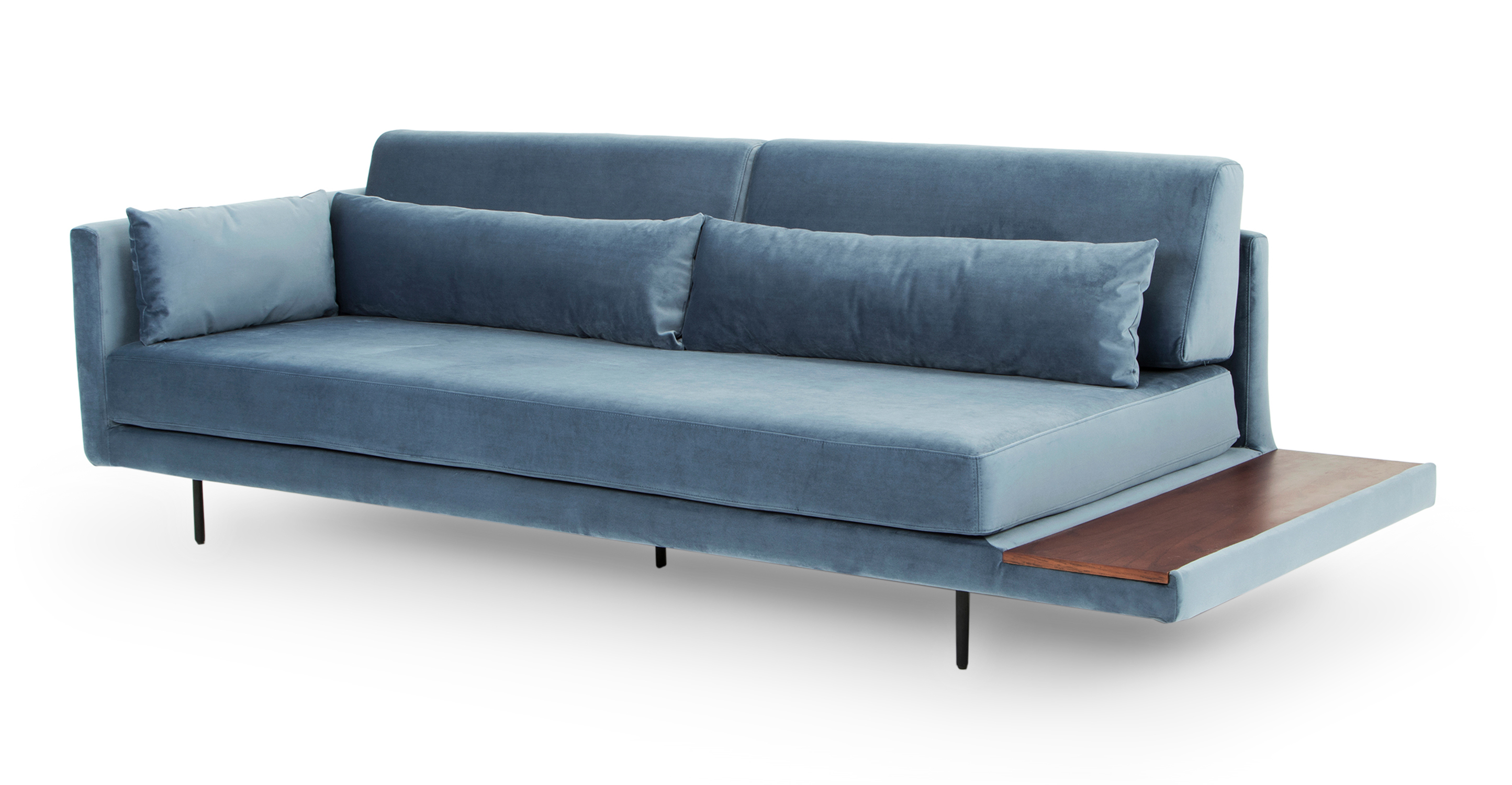 """Davenport 95"""" Fabric Sofa Sleeper, Celestial Velvet"""
