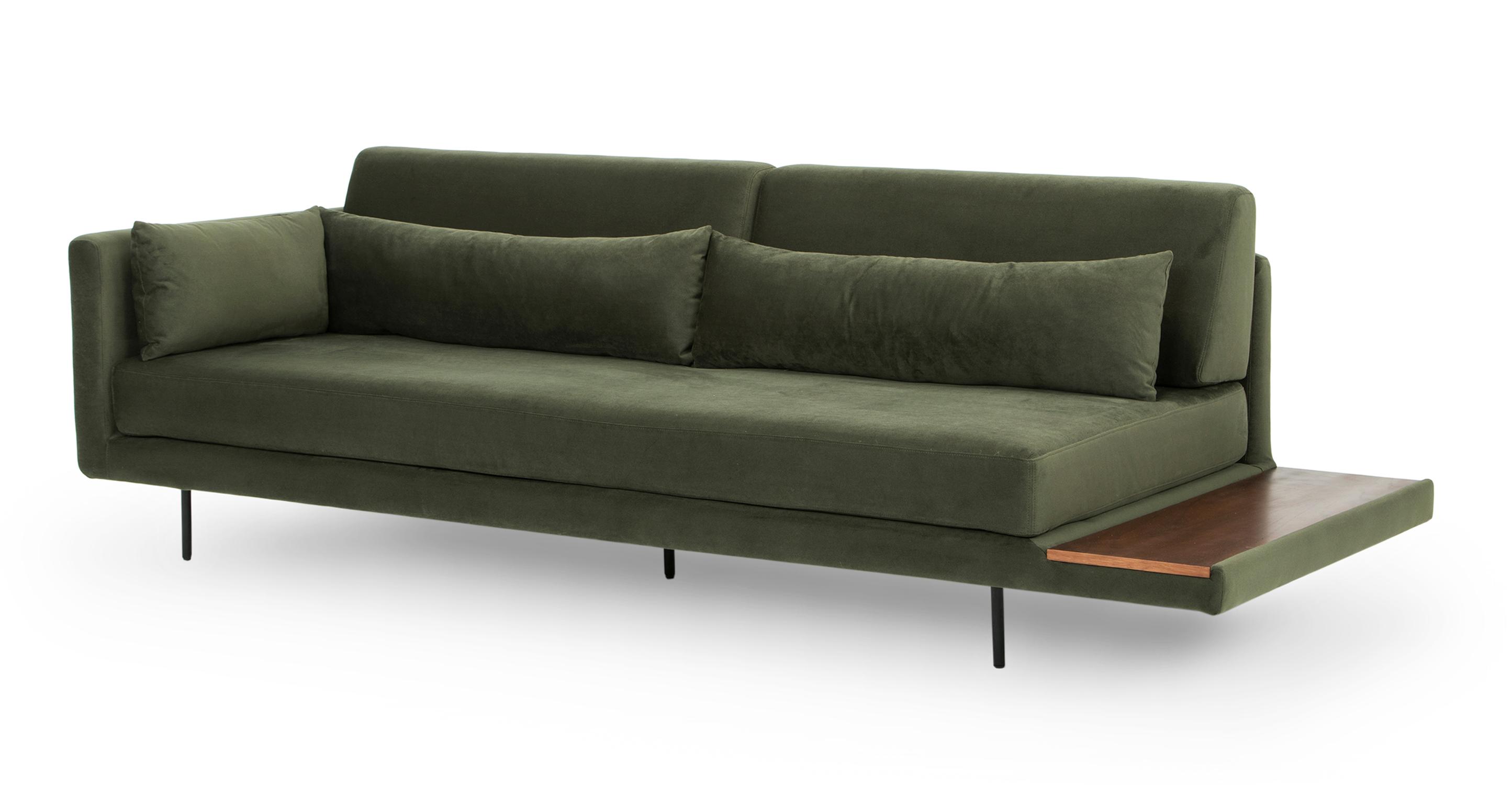 "Davenport 95"" Fabric Sofa Sleeper, Hunter Green"