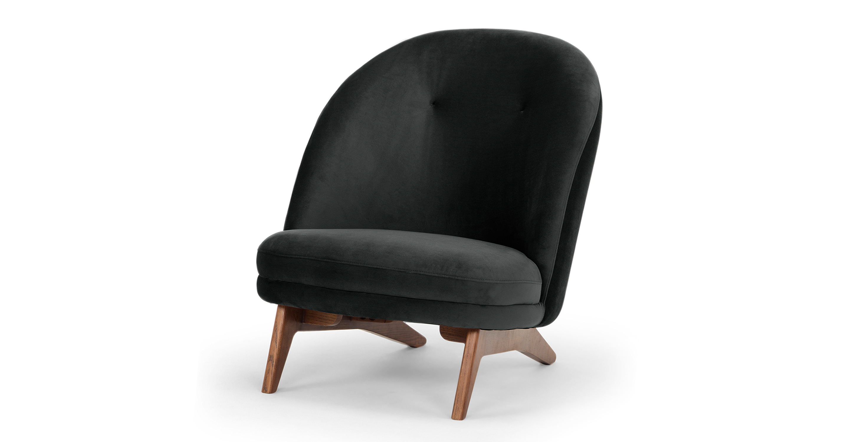 "Leon 28"" Fabric Chair, Anchor Velvet"