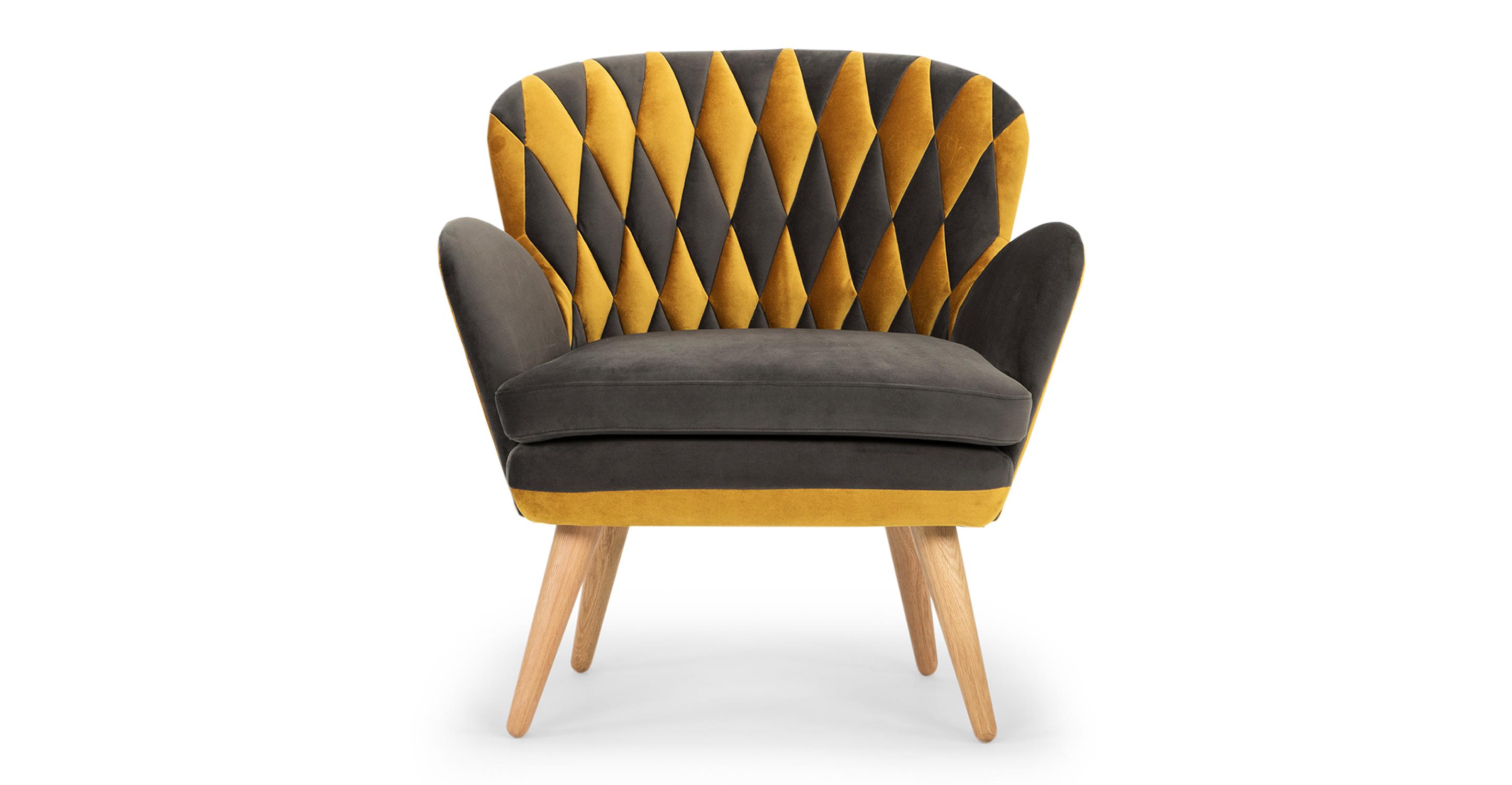 "Kristin Quilt 33"" Fabric Chair, Dazzle & Urbane"
