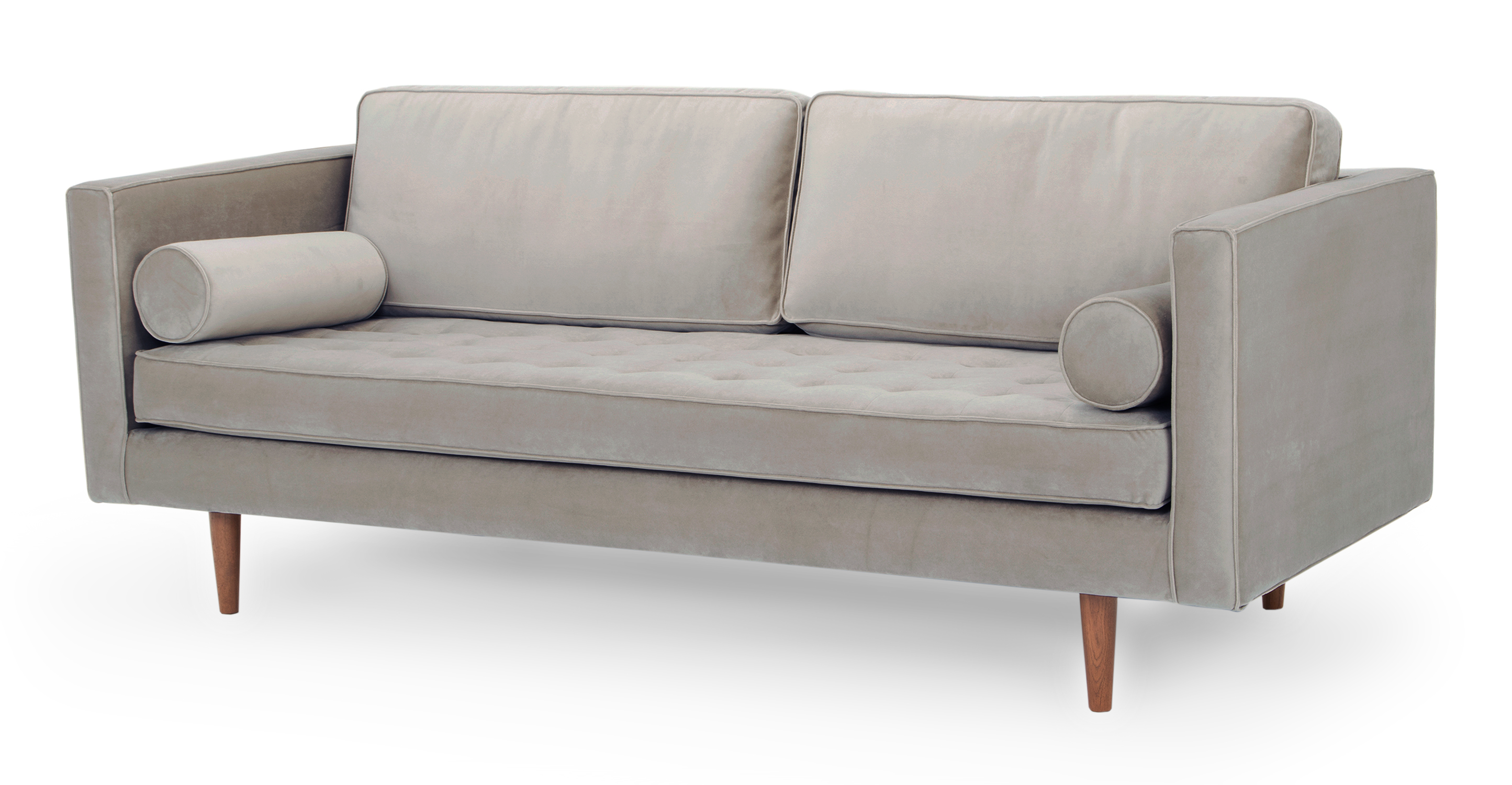 "Dwell 81"" Fabric Sofa, Thunder Velvet"