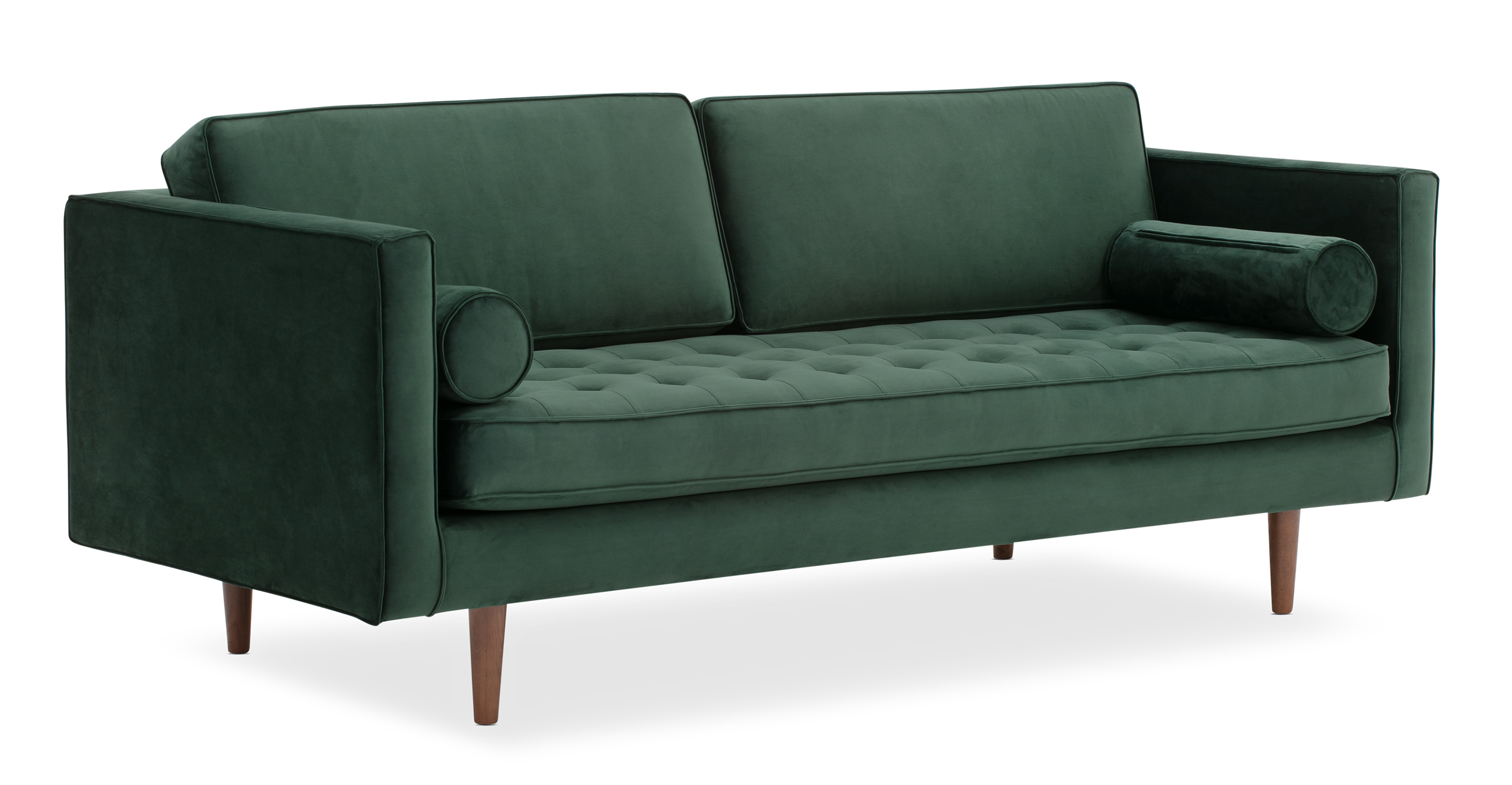 "Dwell 81"" Fabric Sofa, Shamrock Velvet"