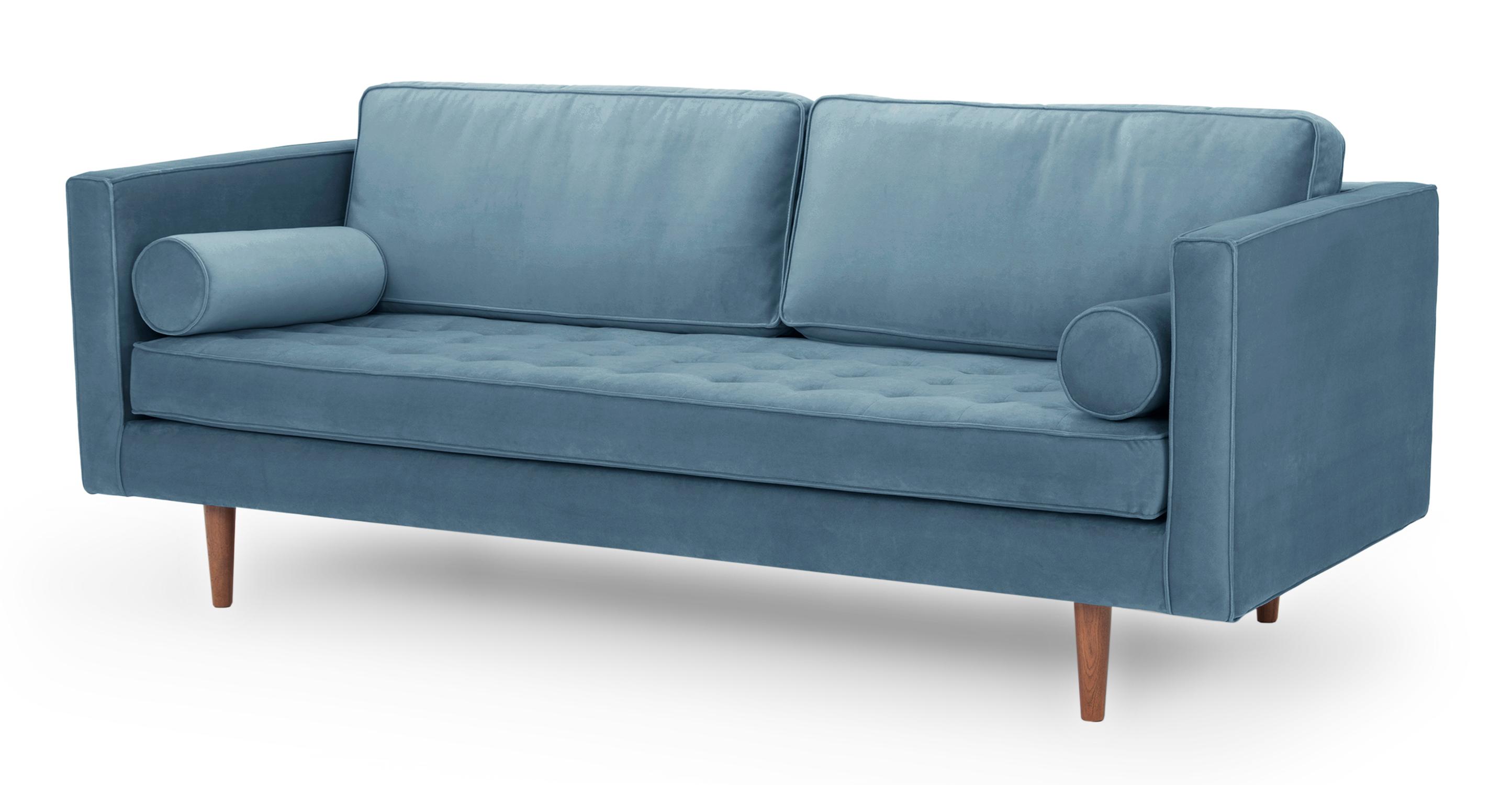 """Dwell 81"""" Sofa, Celestial Velvet"""