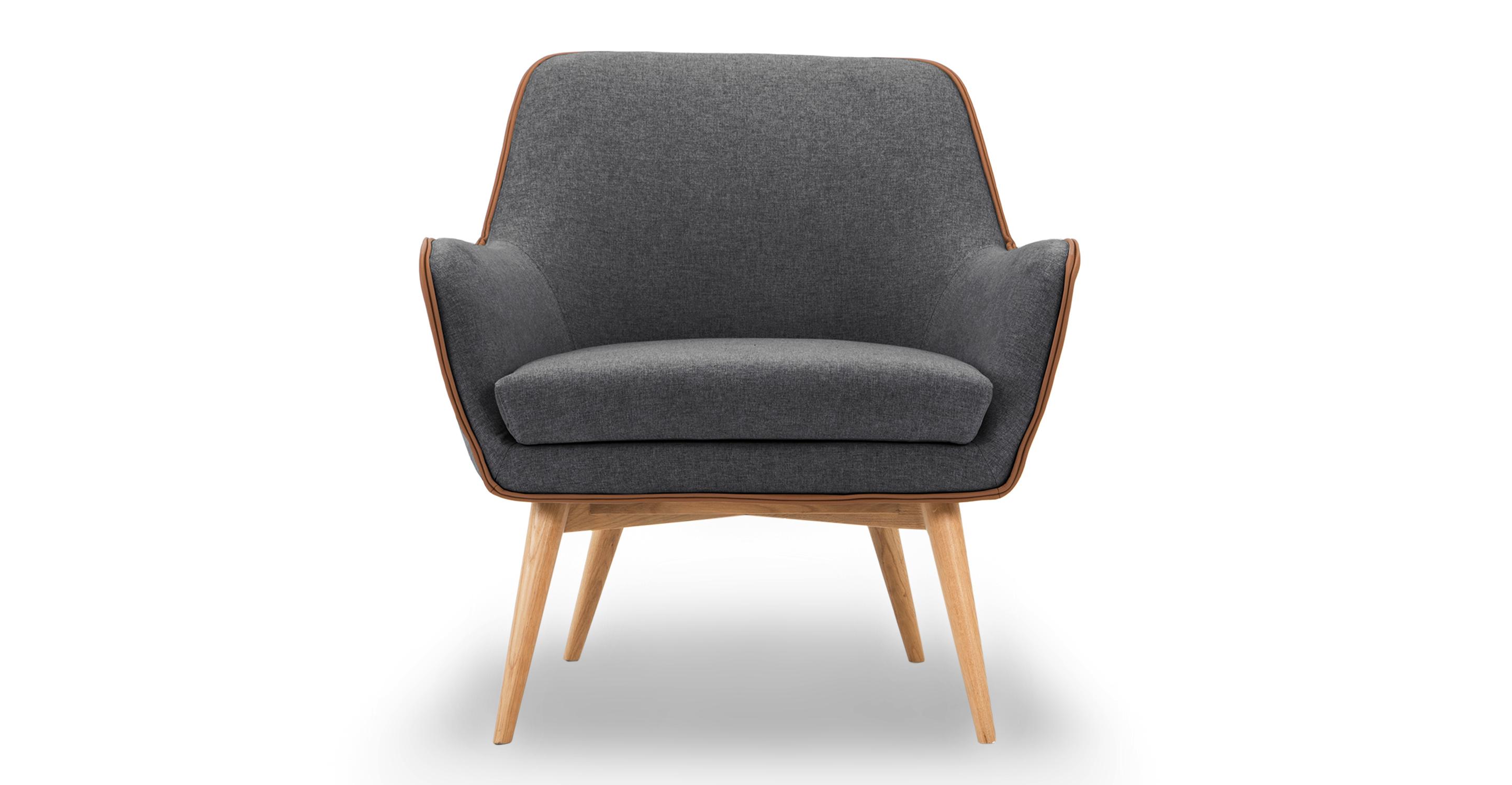 """Troop 32"""" Fabric Chair, Nickel"""