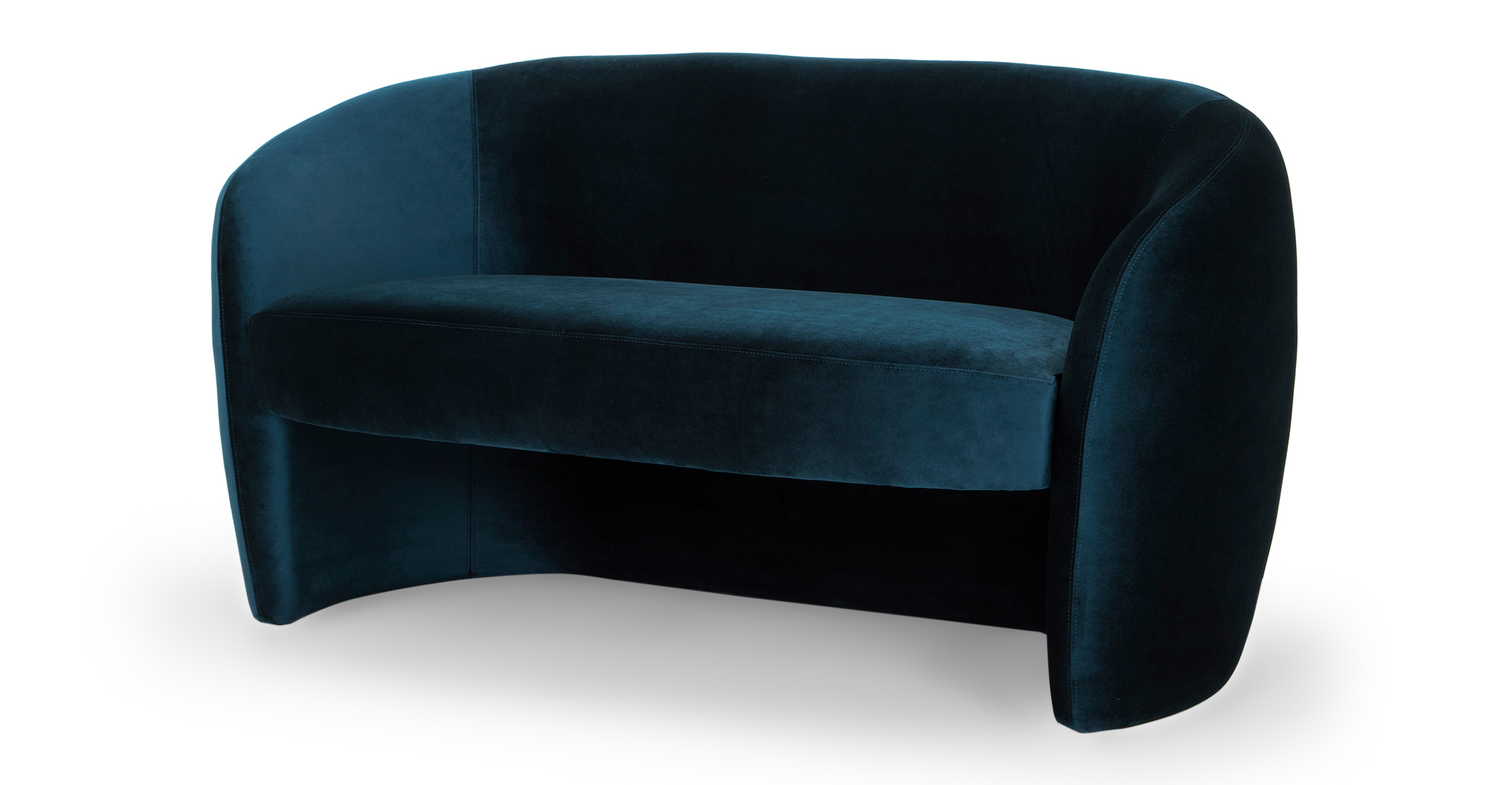 "Miranda 60"" Fabric Sofa, Revel Velvet"