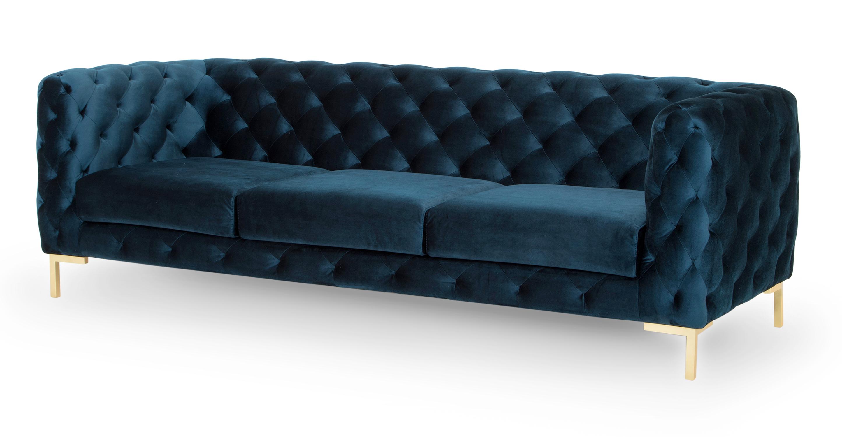 "Umbria 93"" Fabric Sofa, Revel Velvet"