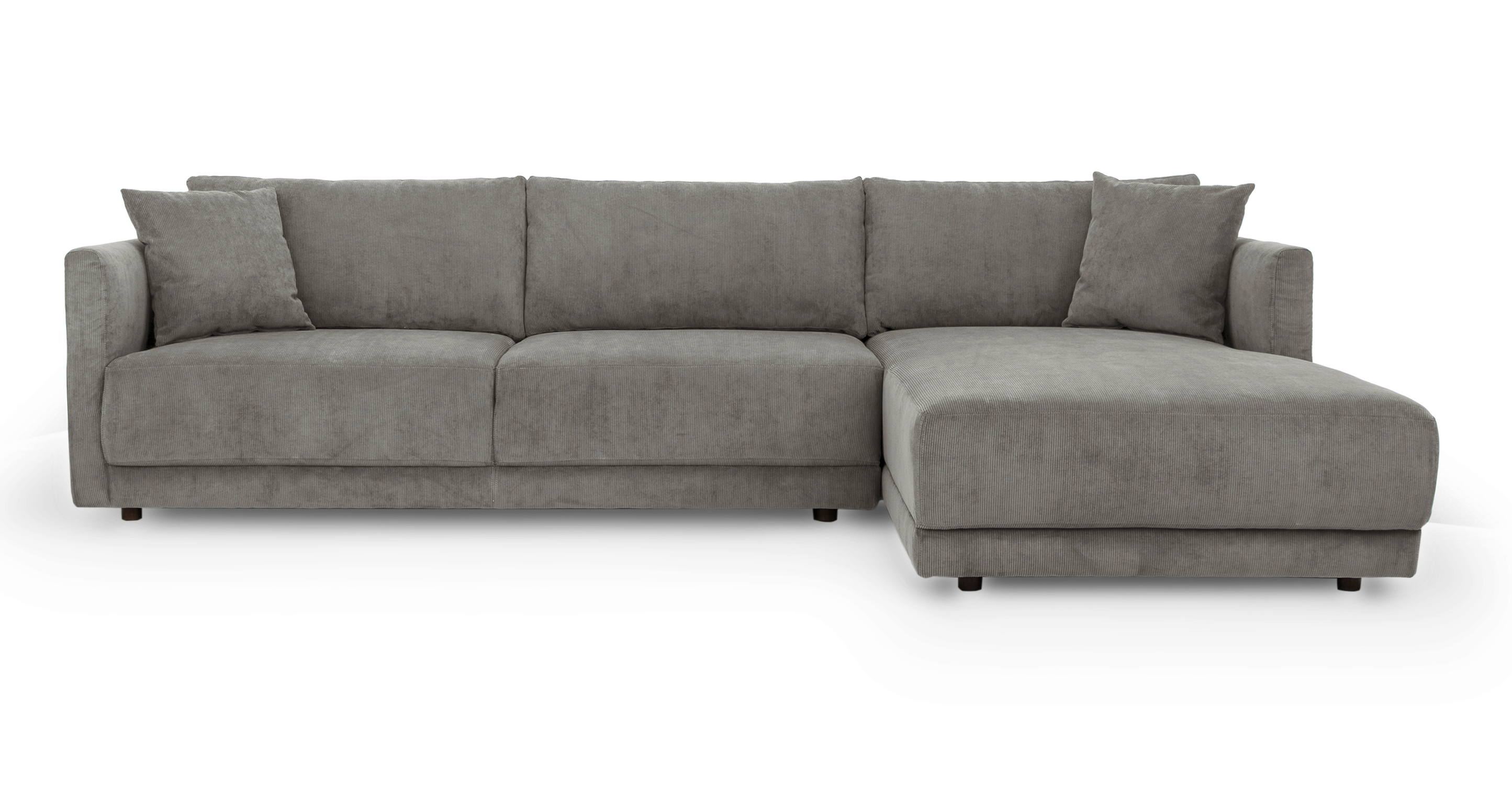 """Domus 115"""" Fabric Sofa Sectional Right, Monorail Cord"""