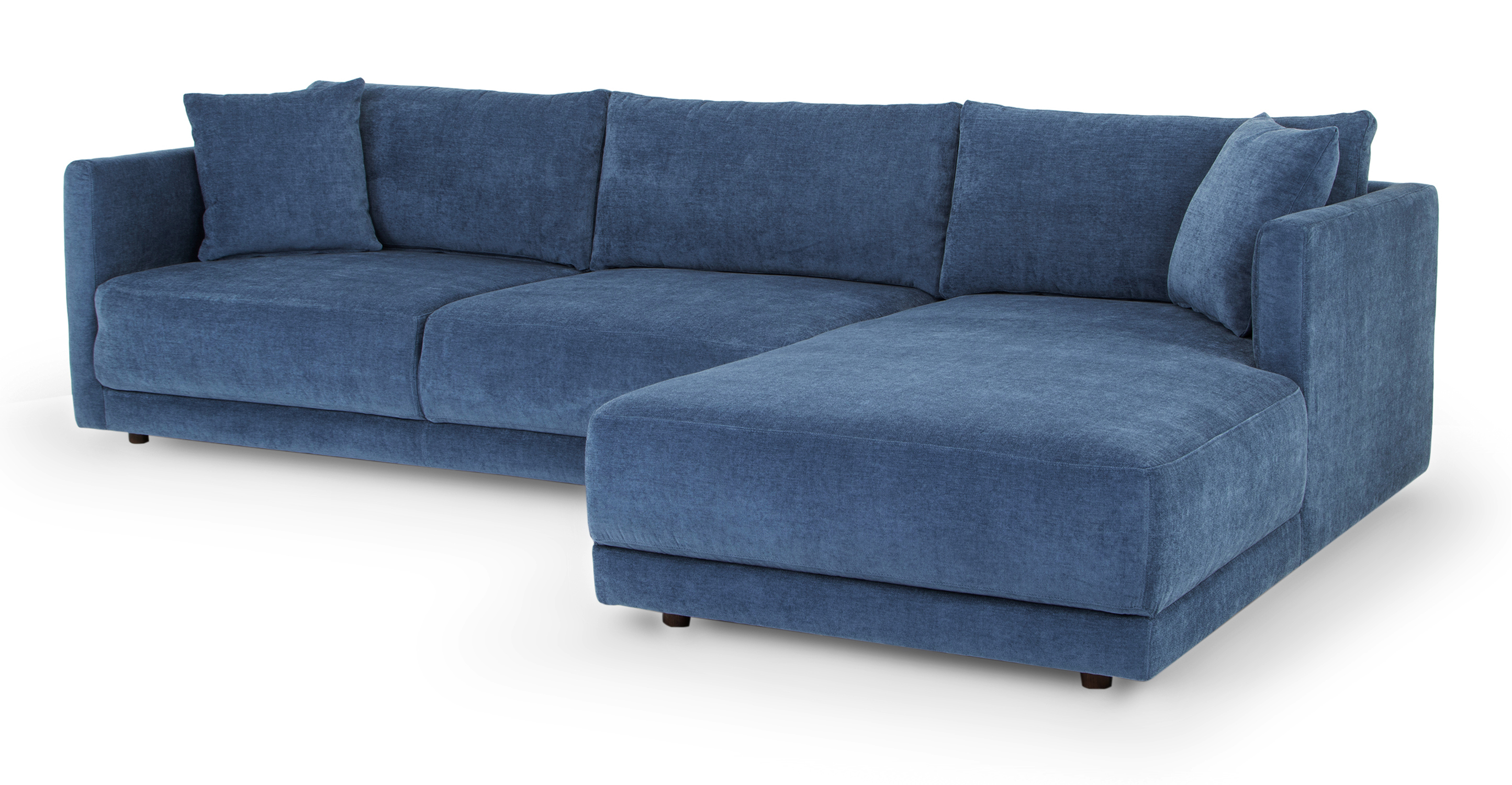 """Domus 115"""" Sofa Sectional Right, Shadow Blue"""