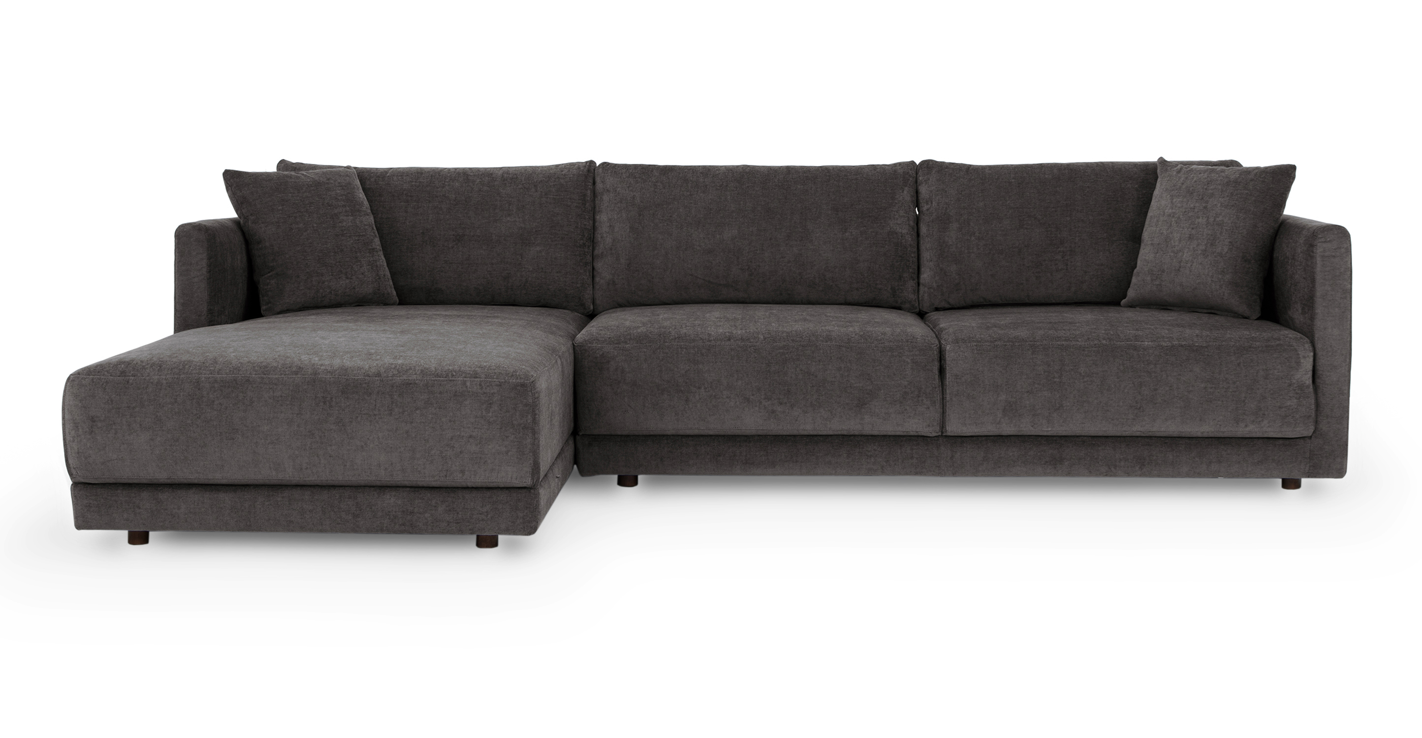 "Domus 115"" Fabric Sofa Sectional Left, Twilight"