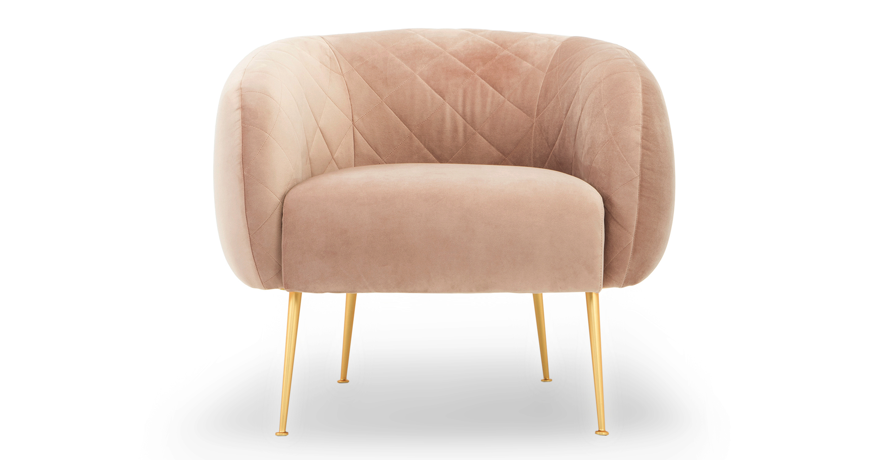 "Julien 33"" Fabric Chair, Enchant Velvet"