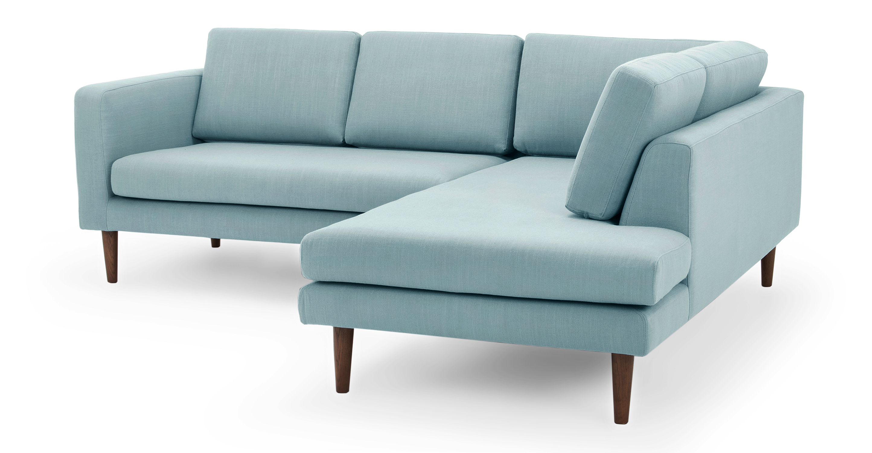 """Dominique 89"""" Sofa Sectional Right, Breeze"""
