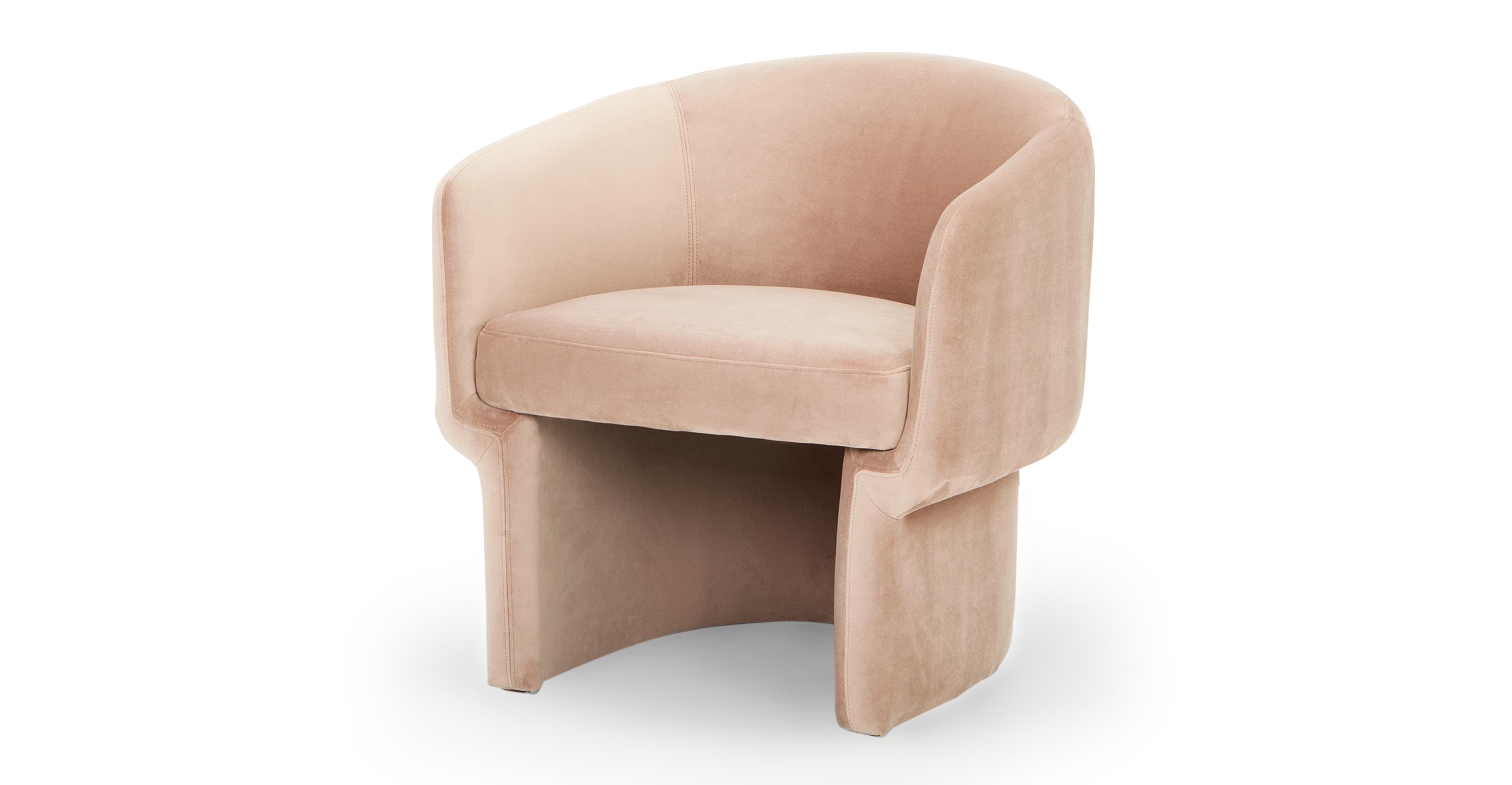"""Ovie 27"""" Fabric Chair, Enchant Velvet"""