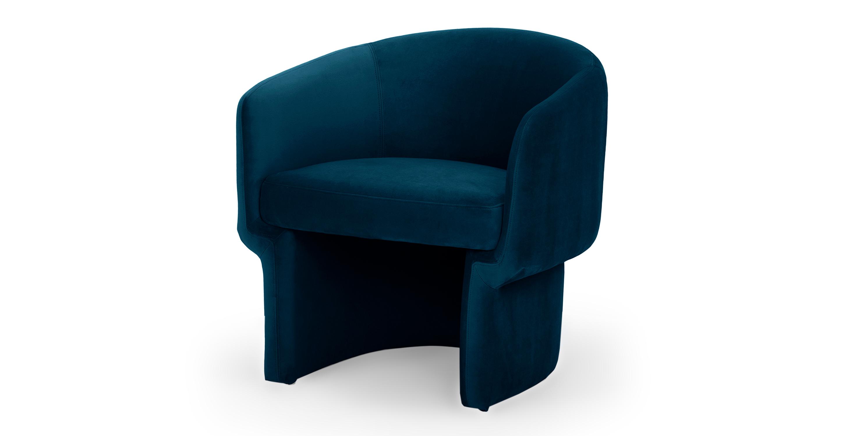 """Ovie 27"""" Fabric Chair, Revel Velvet"""