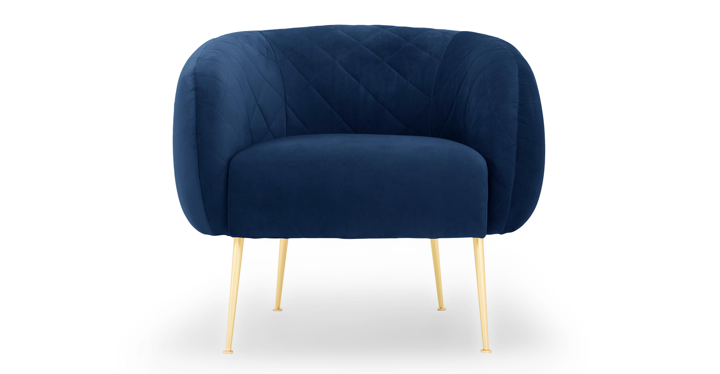 """Julien 33"""" Fabric Chair, Danube Velvet"""