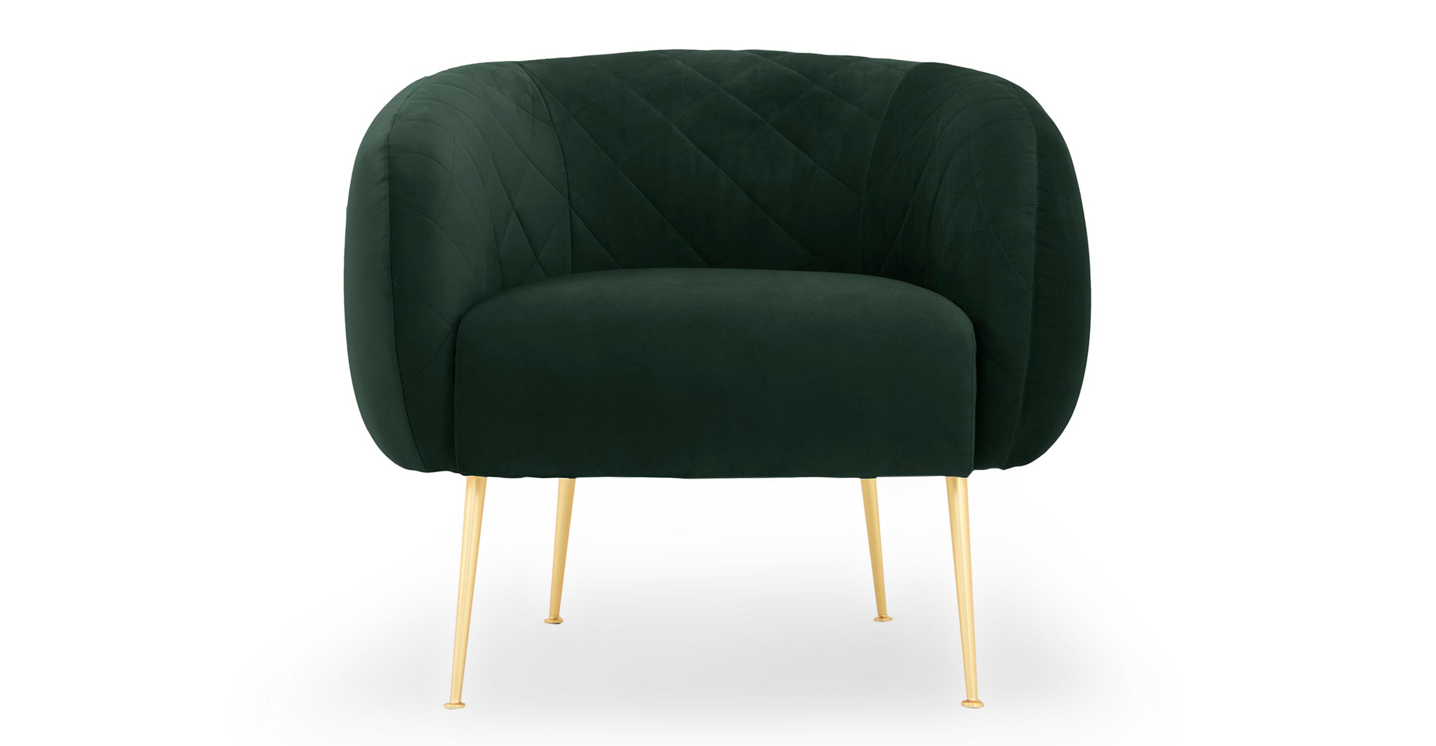 """Julien 33"""" Fabric Chair, Shamrock Velvet"""