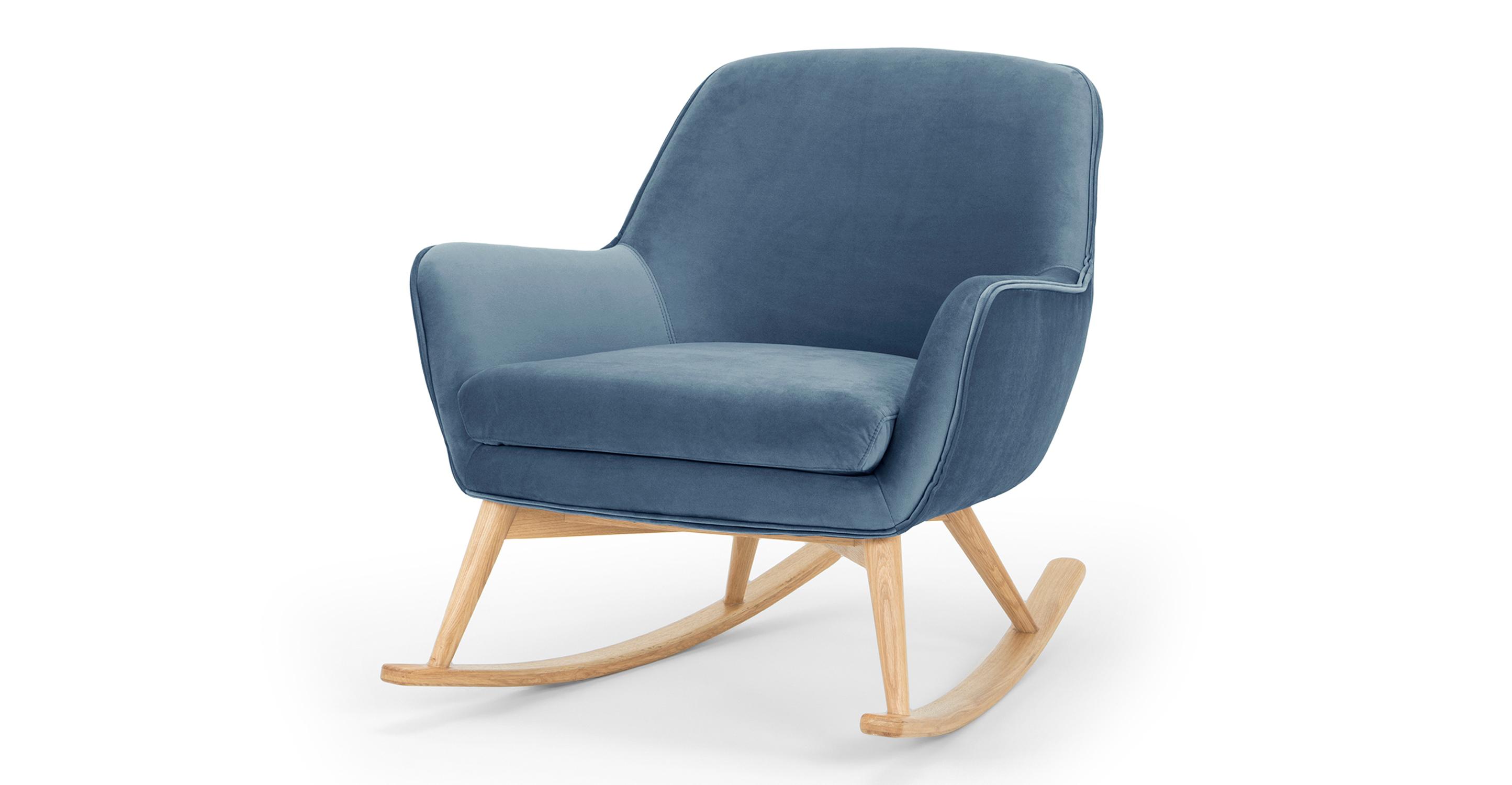 """Lullaby 31"""" Fabric Rocking Chair, Celestial Velvet"""