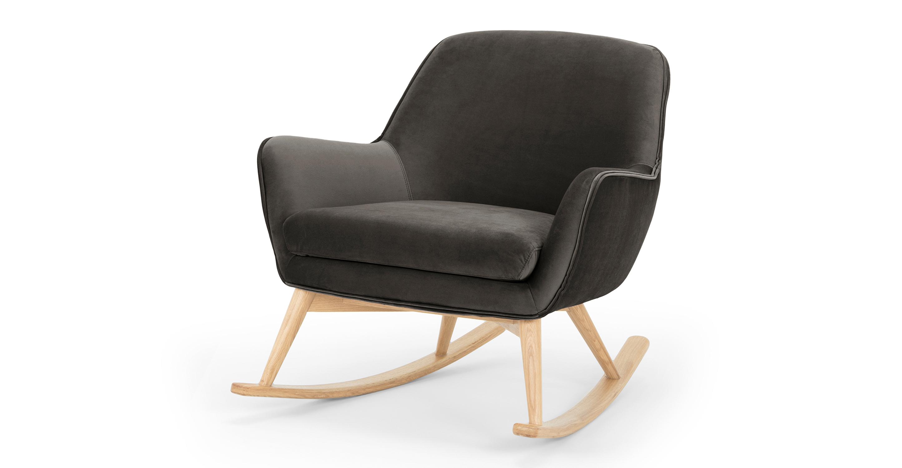 """Lullaby 31"""" Fabric Rocking Chair, Urbane Velvet"""