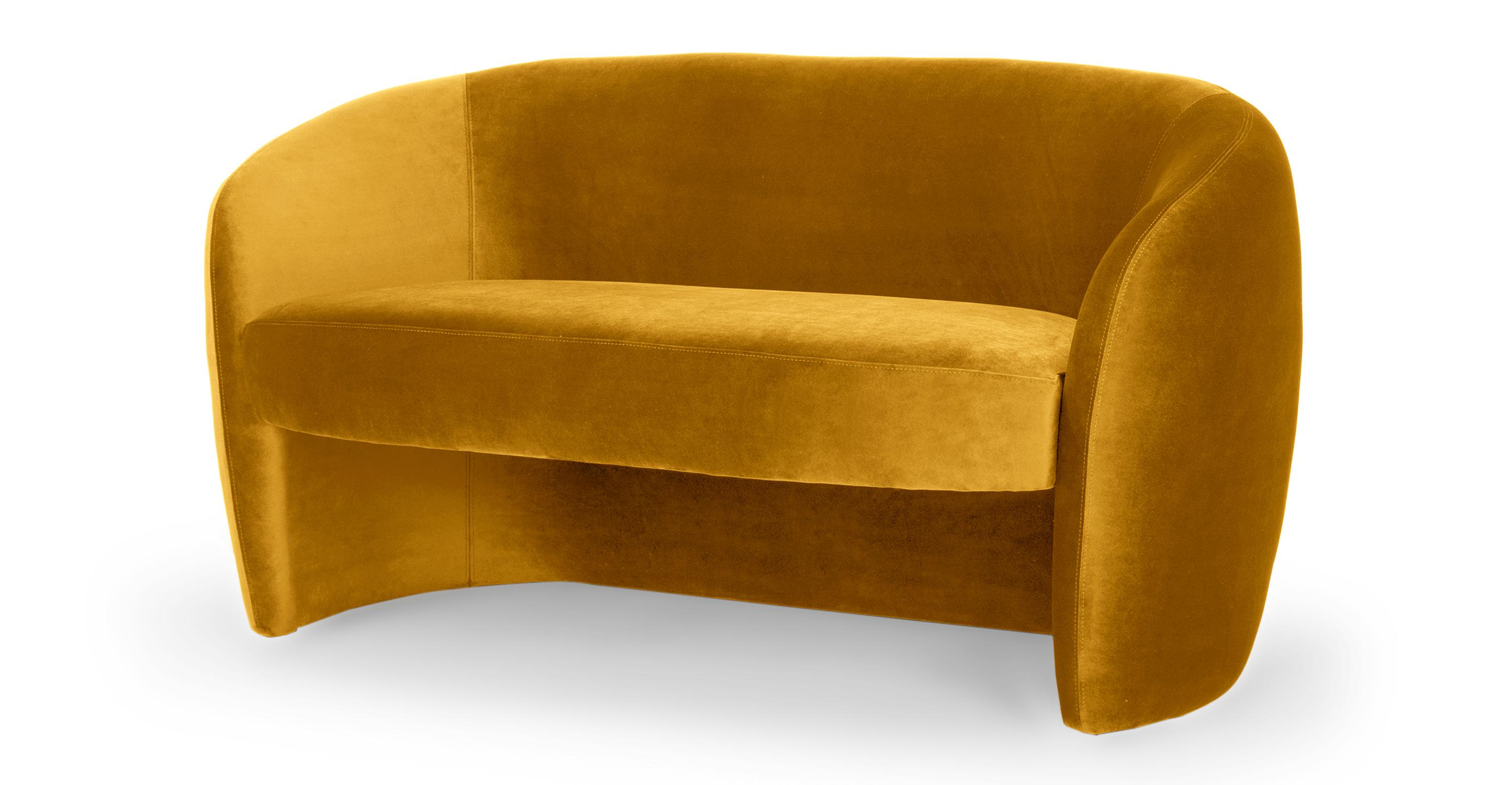 """Miranda 60"""" Fabric Sofa, Dazzle Velvet"""