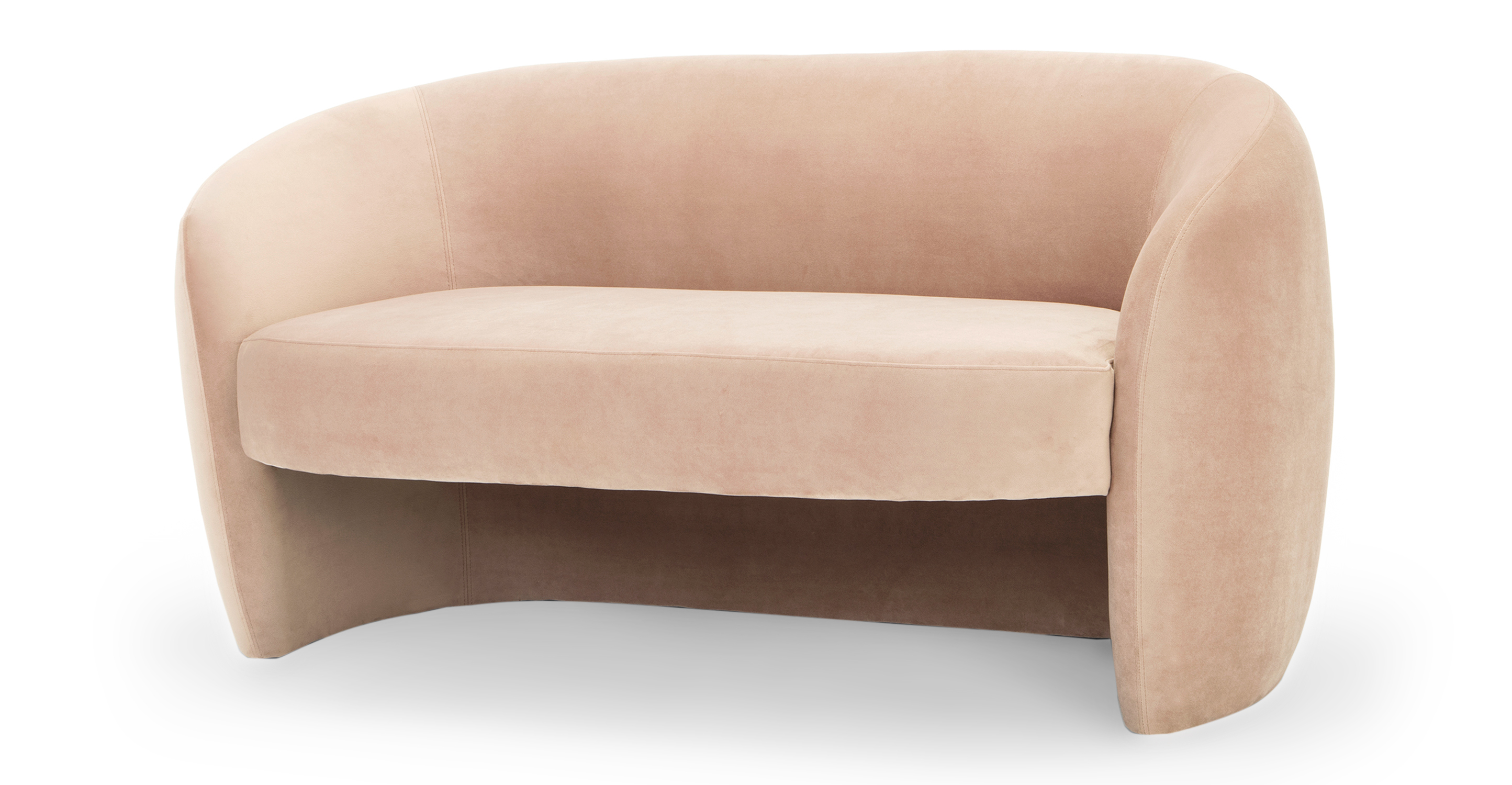"""Miranda 60"""" Fabric Sofa, Enchant Velvet"""