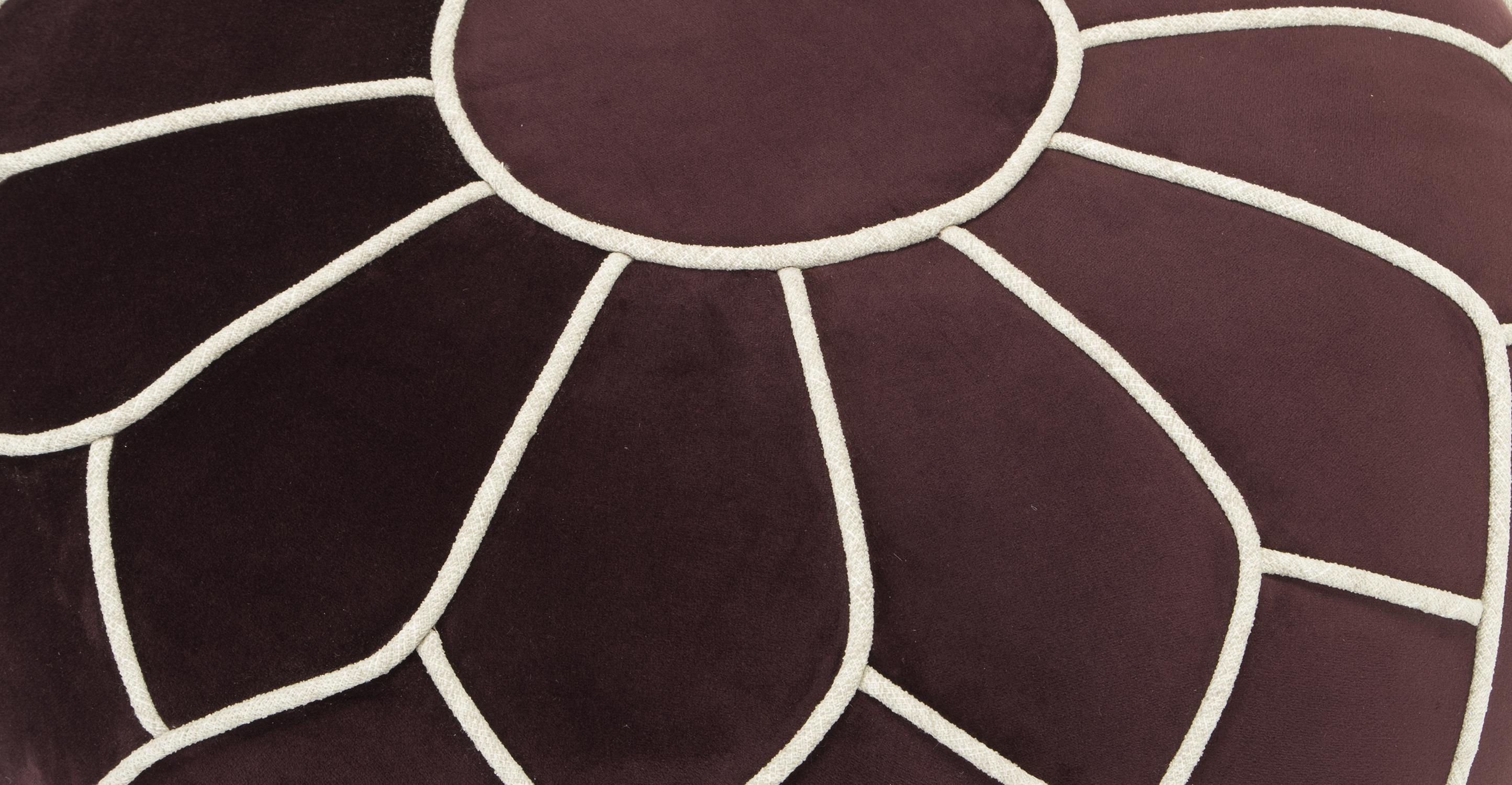 """Mosaic 23"""" Fabric Ottoman, Barbera"""