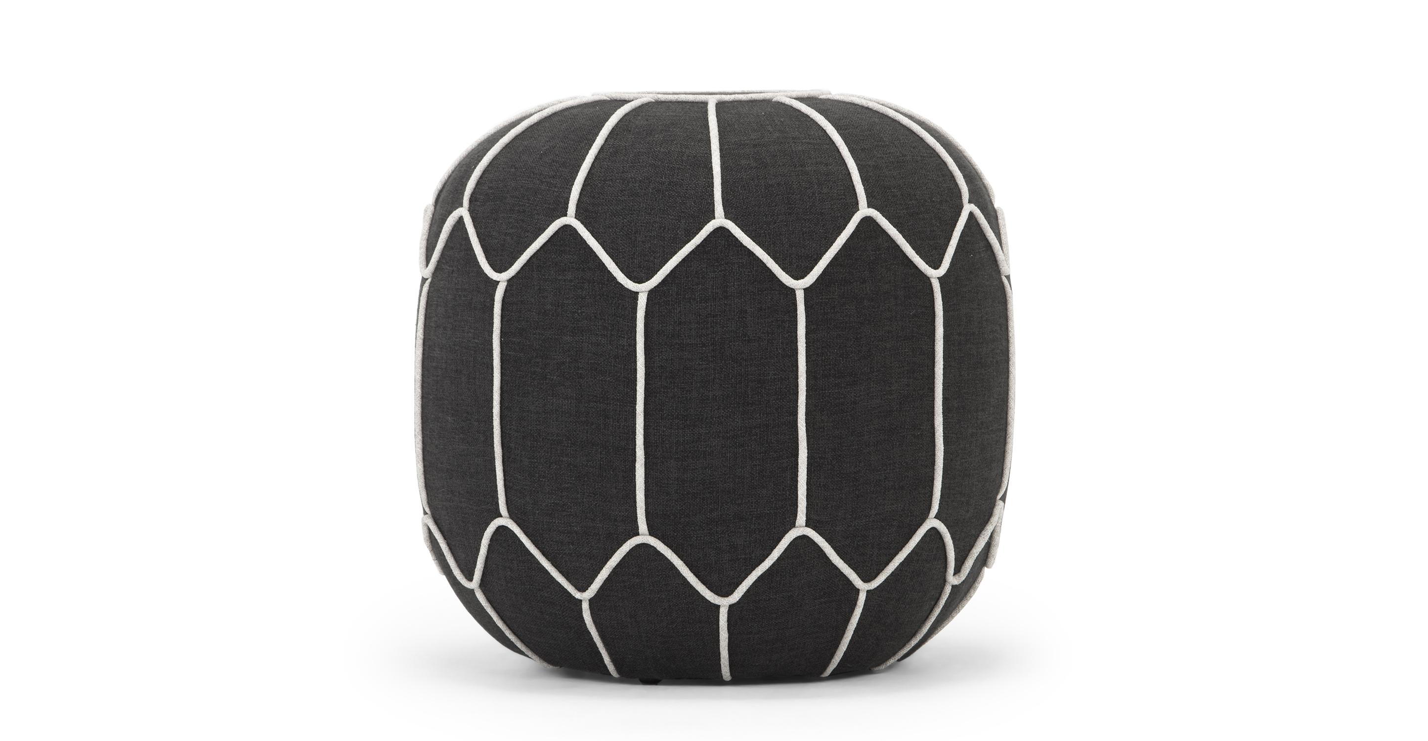 """Mosaic 20"""" Fabric Ottoman, Cyberspace"""
