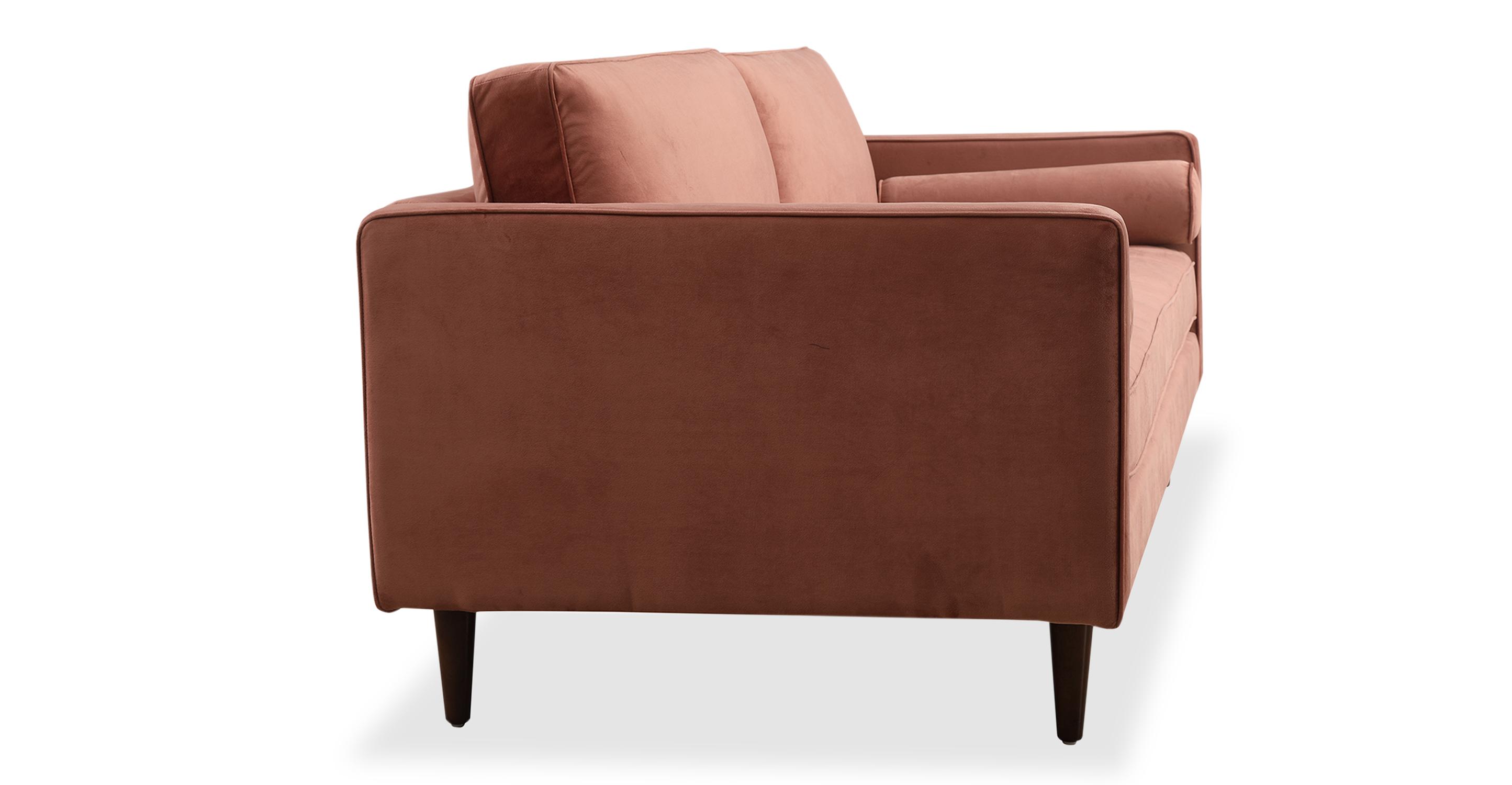 "Elle 88"" Fabric Sofa, Dusty Rose"