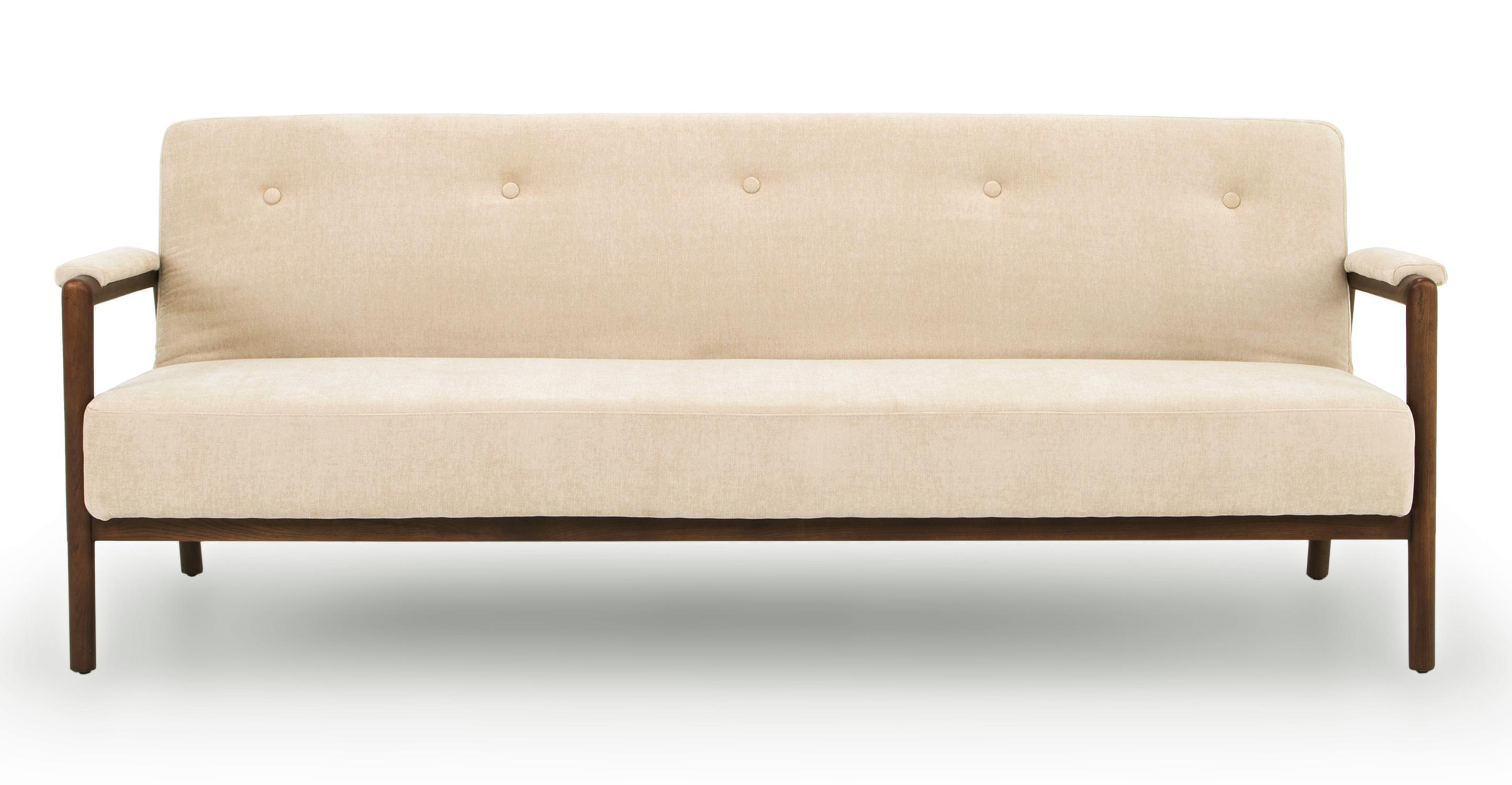 """Orson 85"""" Fabric Sofa Sleeper, Macadamia"""