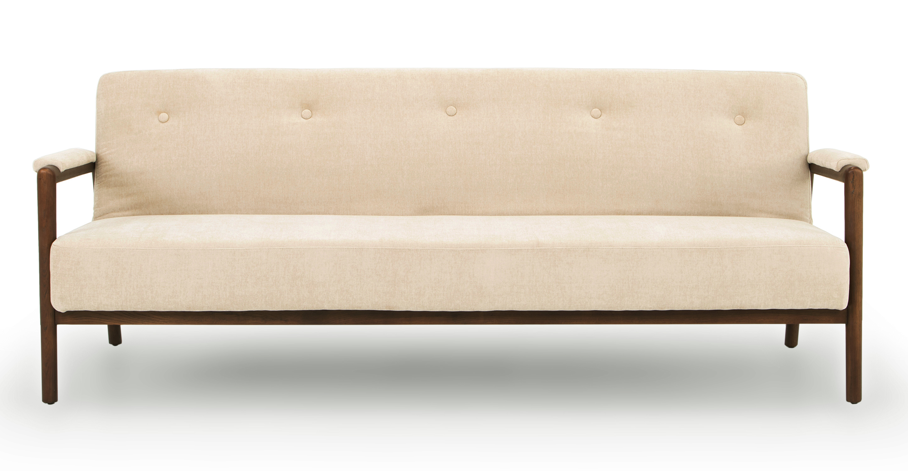 "Orson 85"" Fabric Sofa Sleeper, Macadamia"