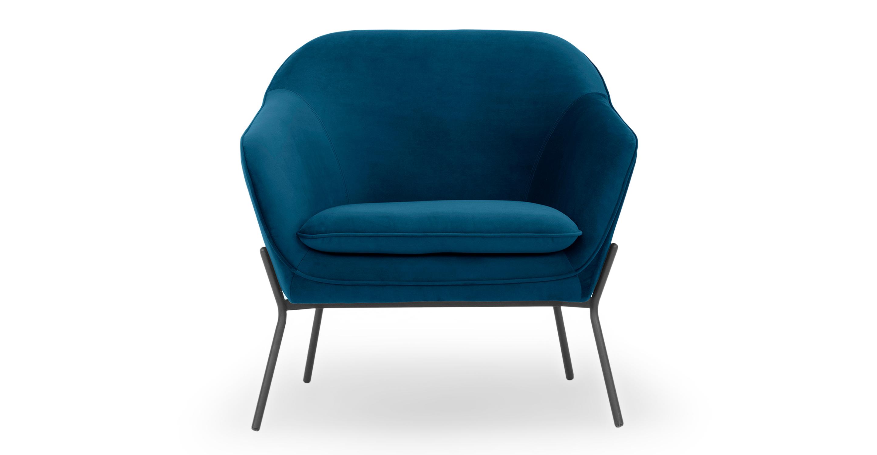 """Margot 33"""" Fabric Chair, Revel Velvet"""