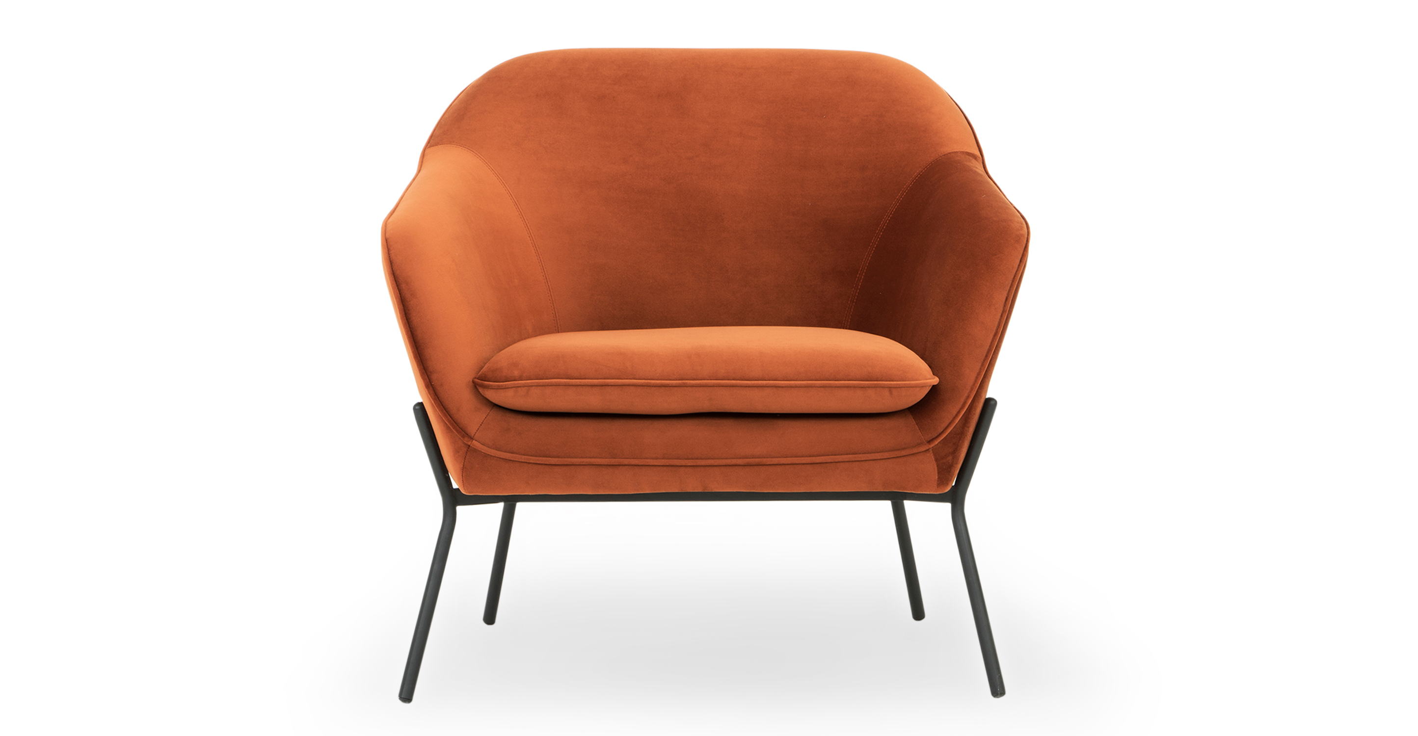 """Margot 33"""" Fabric Chair, Rust Velvet"""