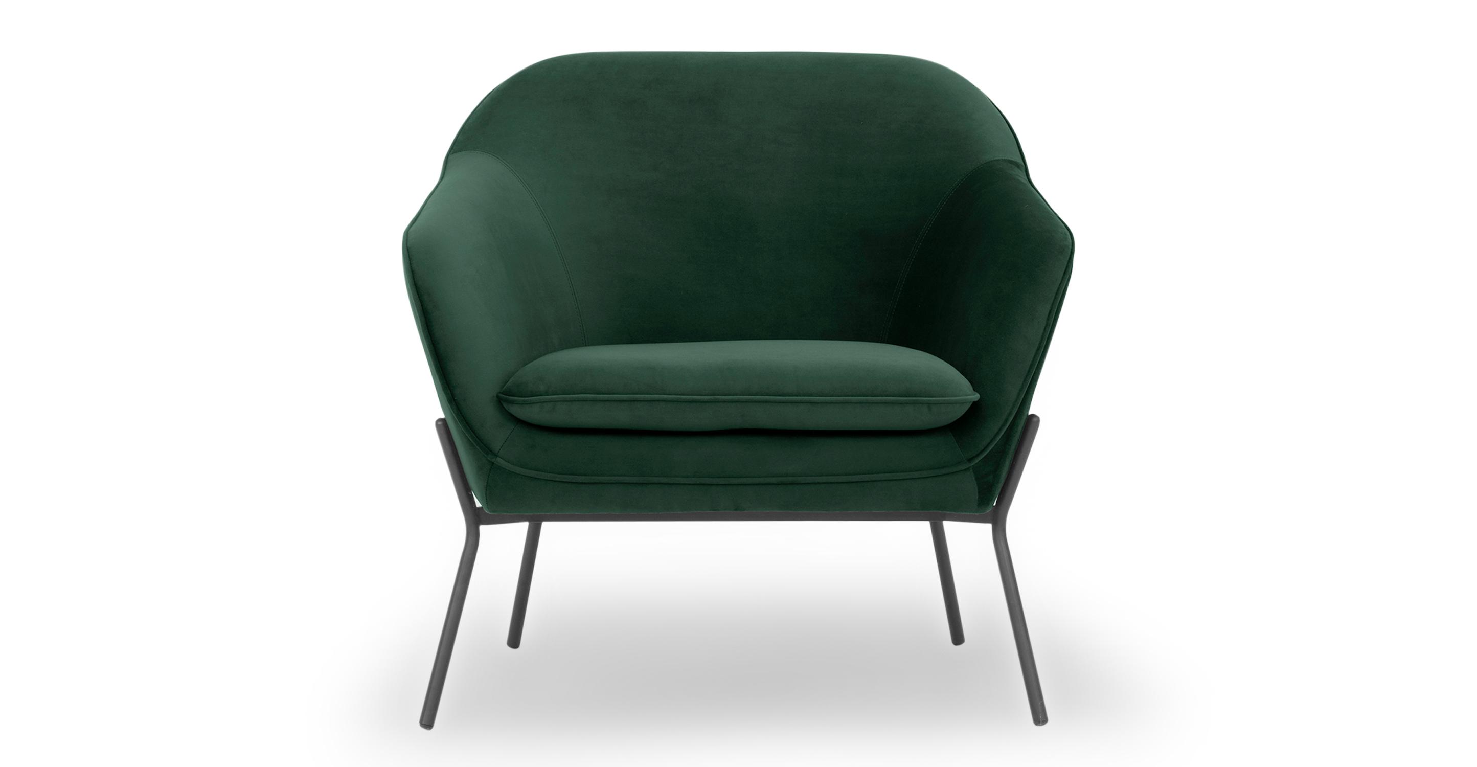 """Margot 33"""" Fabric Chair, Shamrock Velvet"""