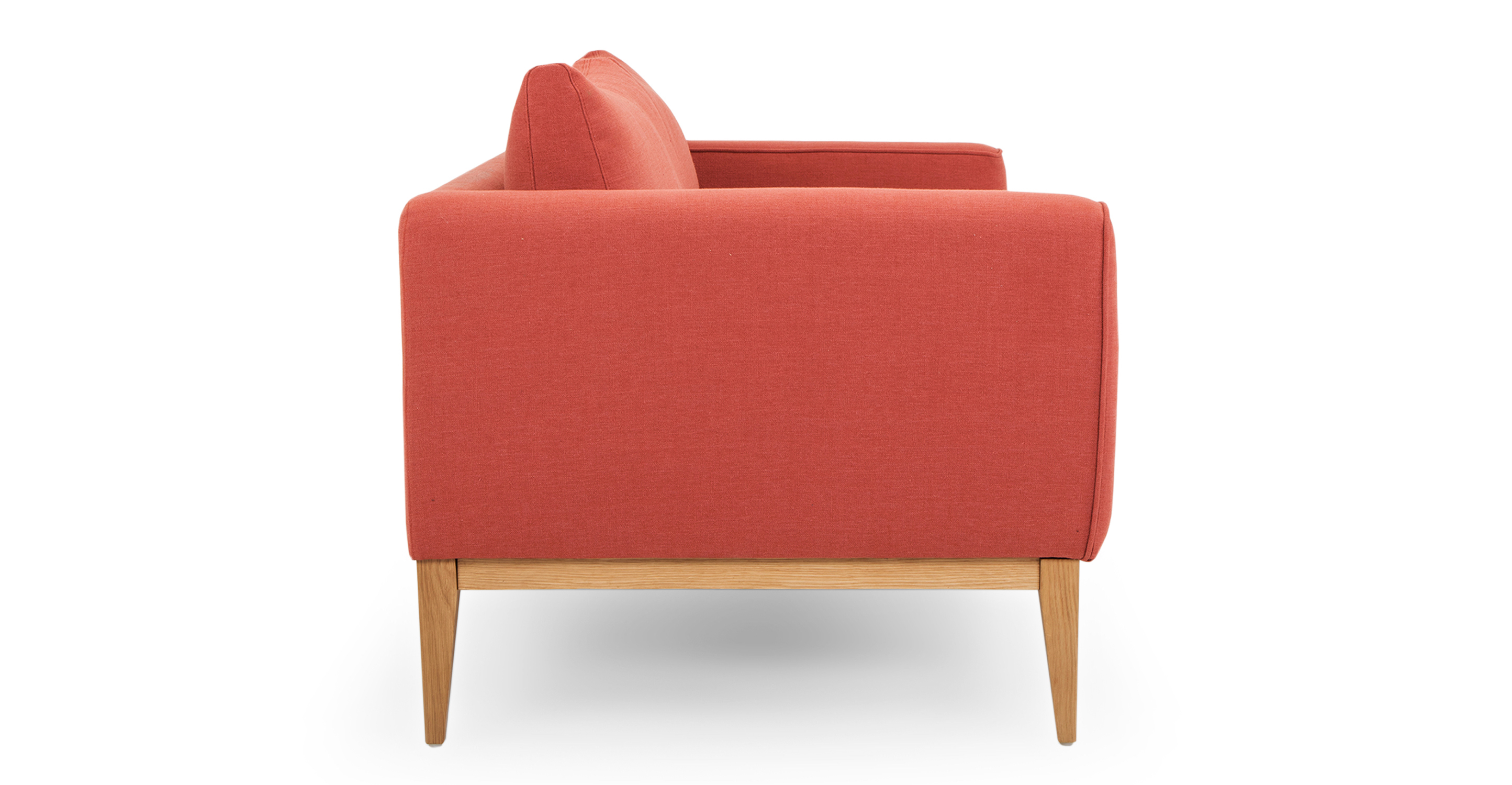 """Colin 84"""" Fabric Sofa, Terracotta"""