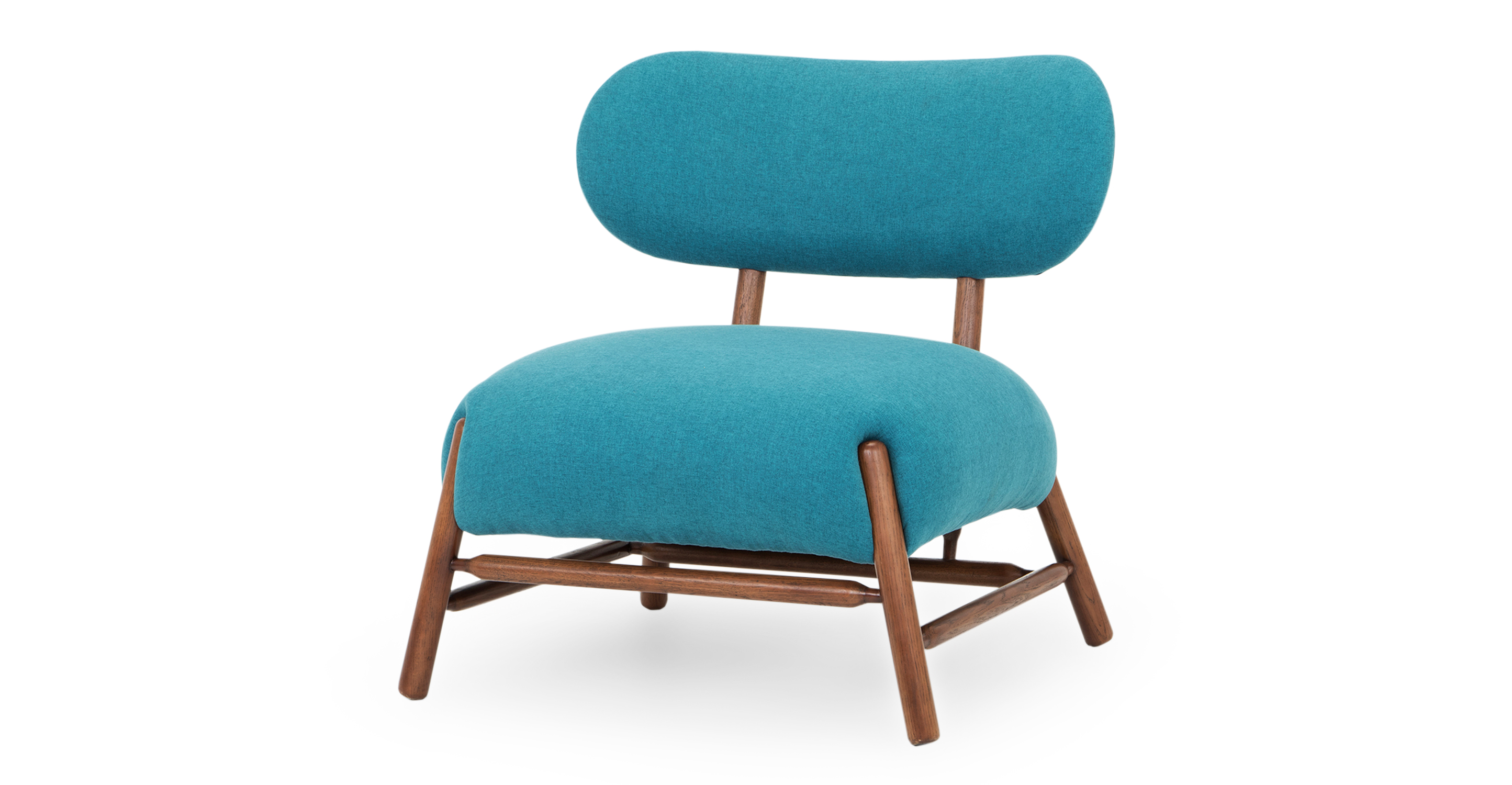 """Mouse 33"""" Fabric Chair, Adriatic"""