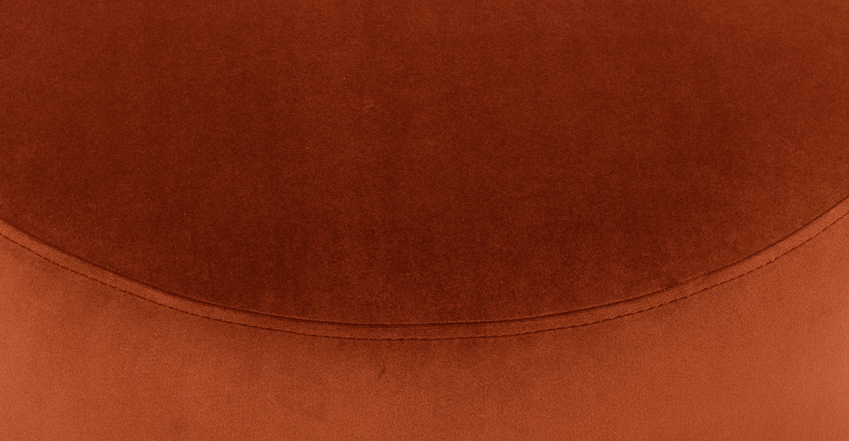 "Spool 18"" Fabric Ottoman, Rust"