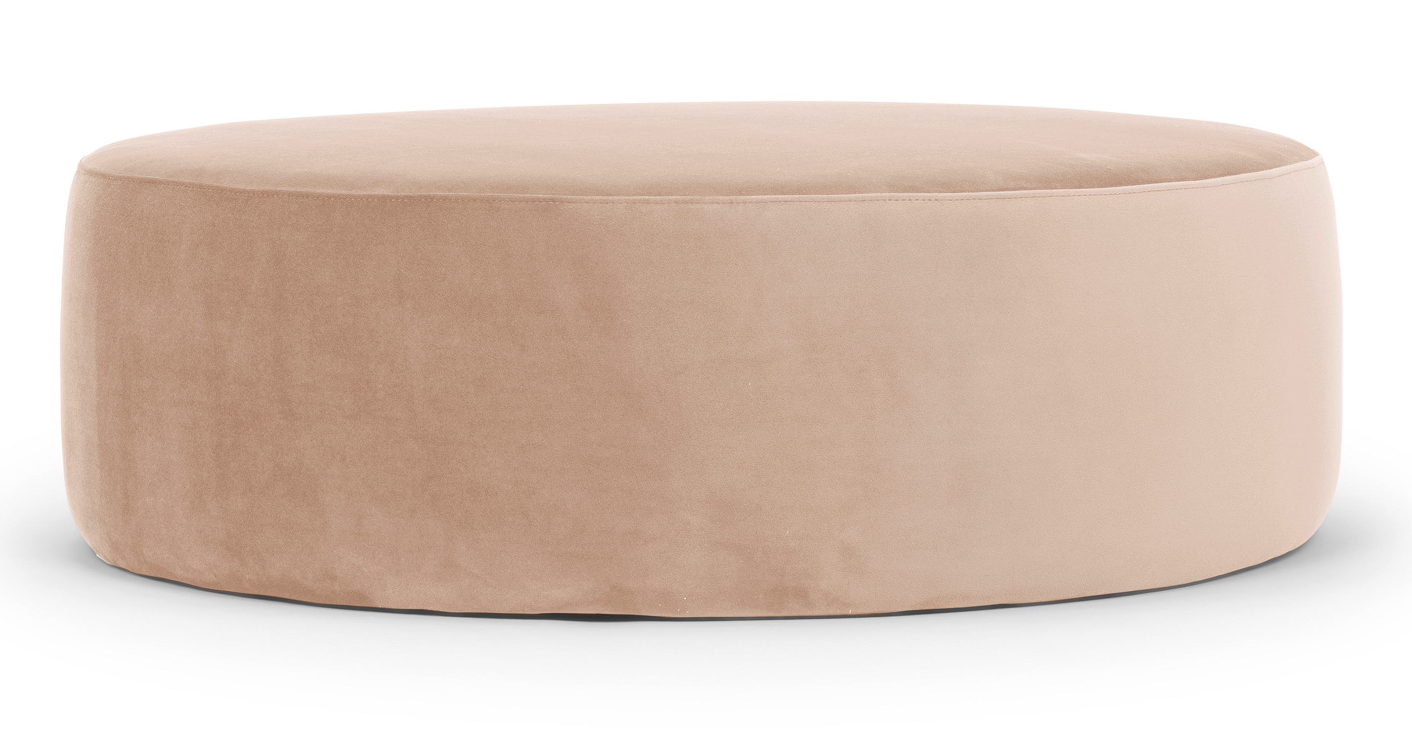 "Spool 37"" Fabric Ottoman, Enchant Velvet"
