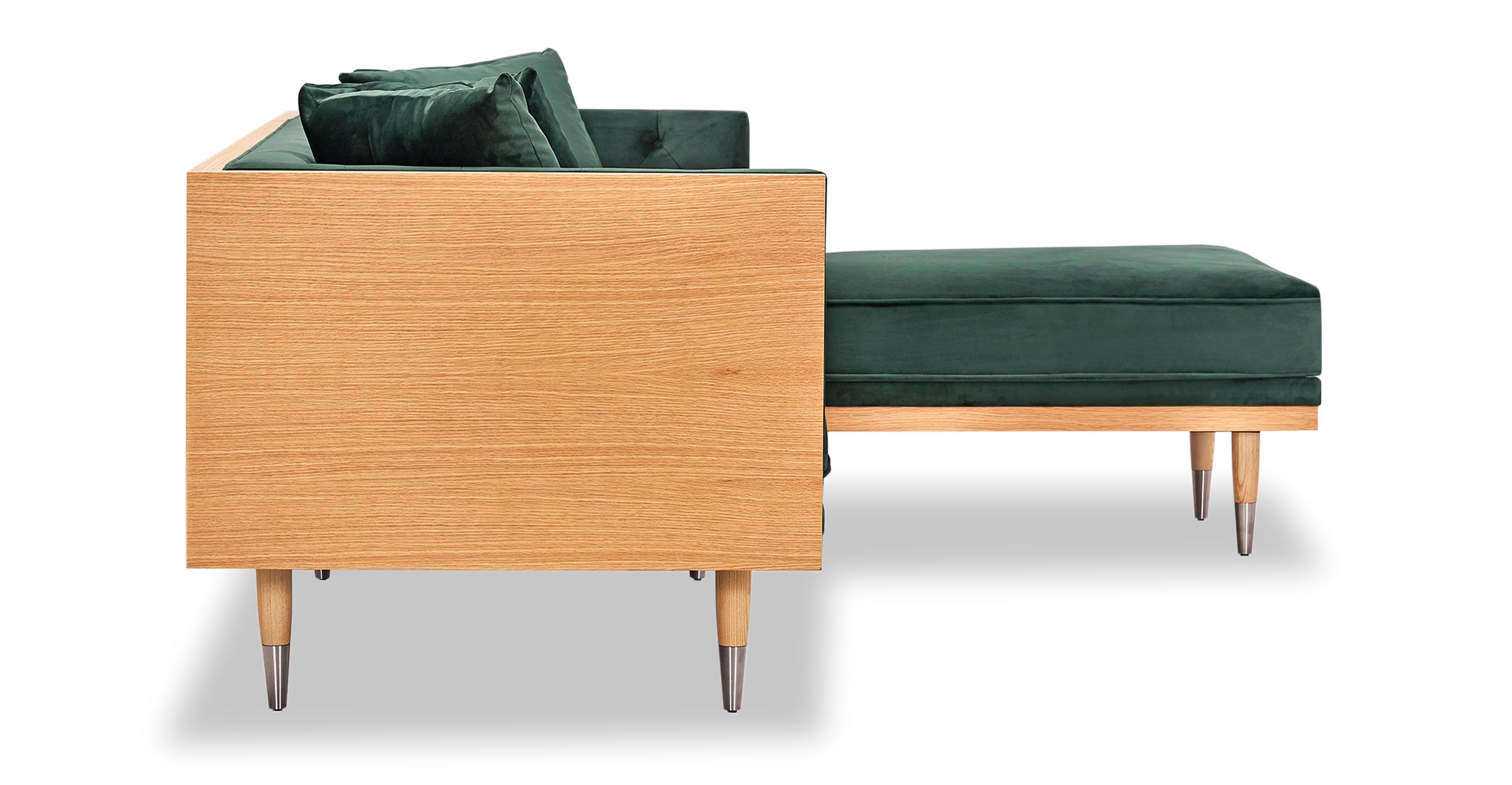 "Woodrow Neo 99"" Sofa Sectional Right, Ash/Jade"
