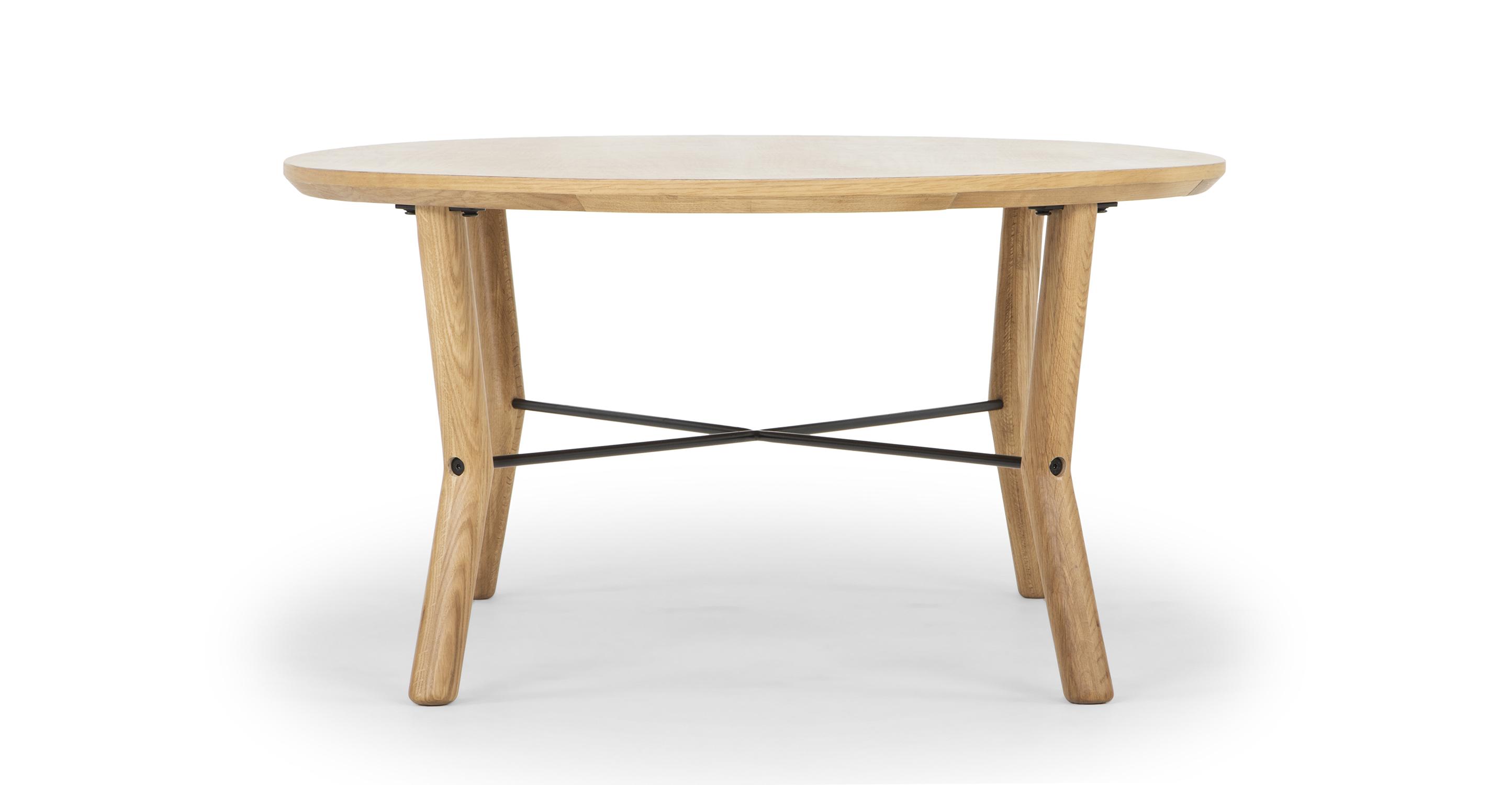 "Harlow 47"" Coffee Table, Natural Oak"